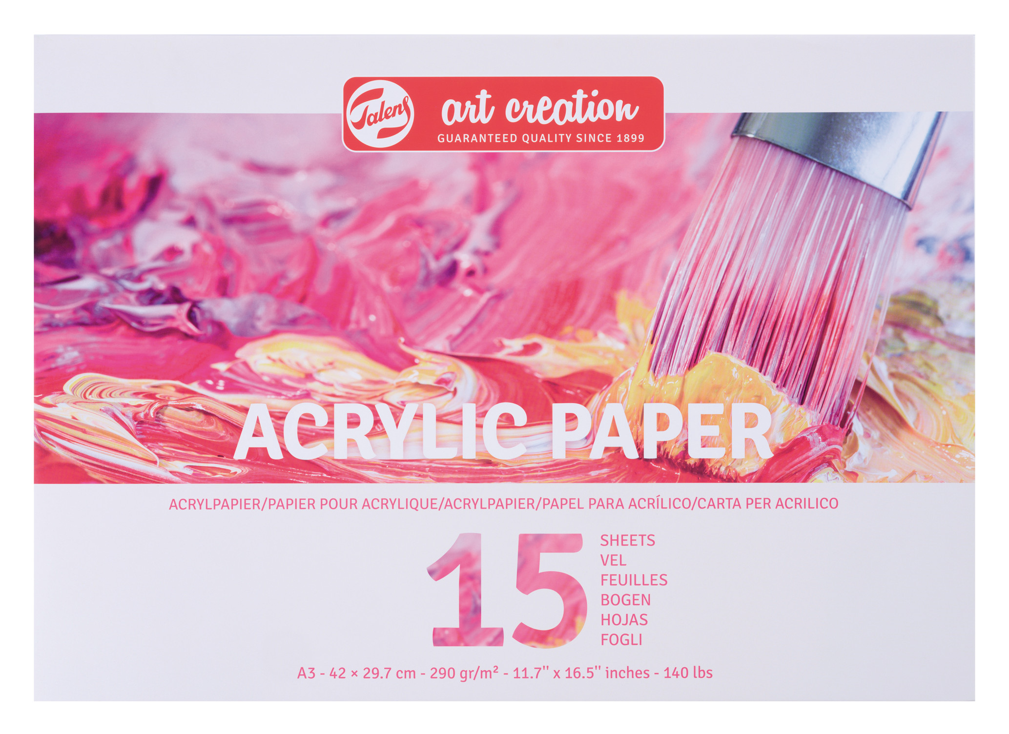 Talens Art Creation Acrylic Paper A3, 290G, 15 Pages