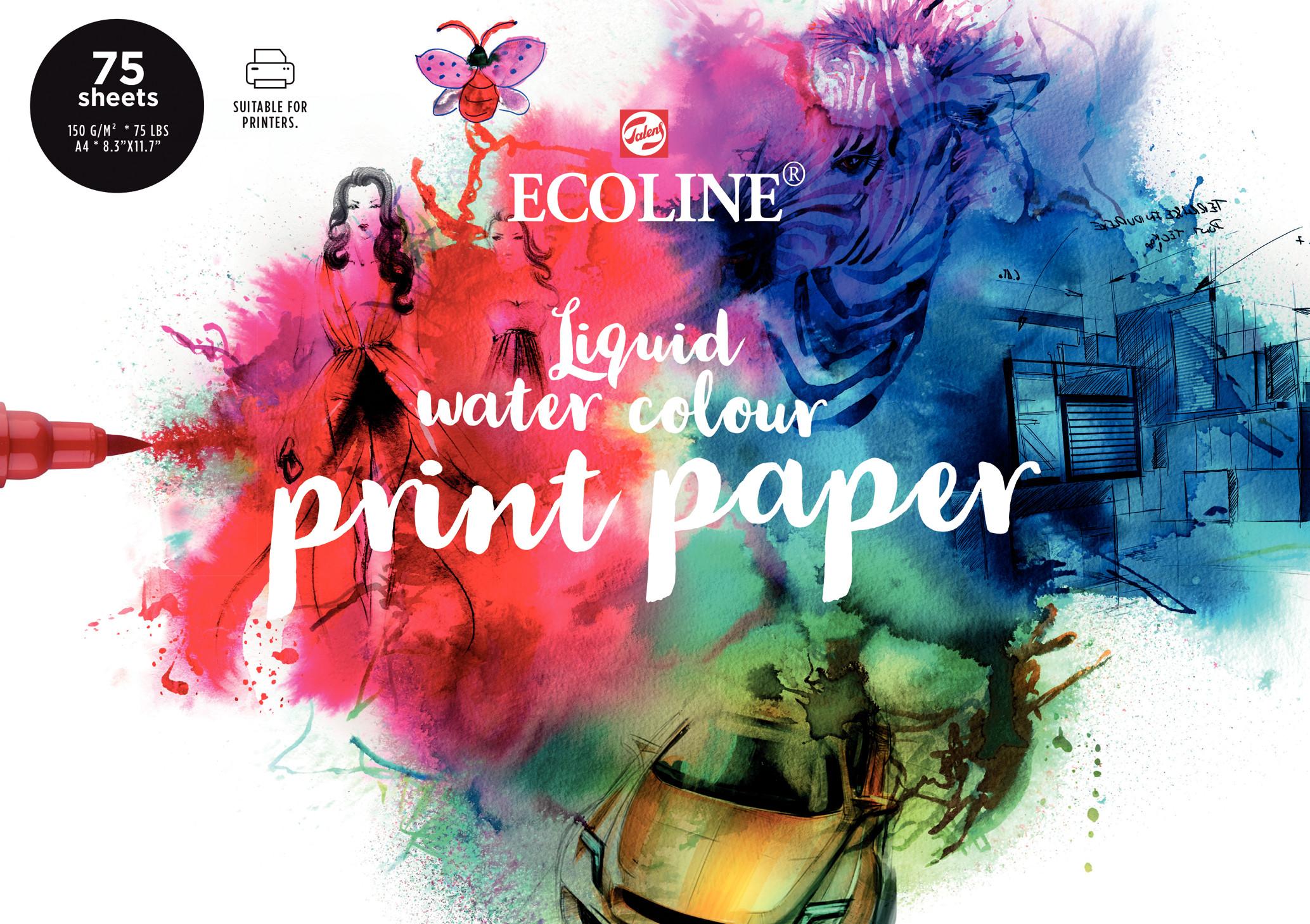 Ecoline Printer Paper, A4, 21 x 29,7 cm, 150 g/m2, 75 Sheets