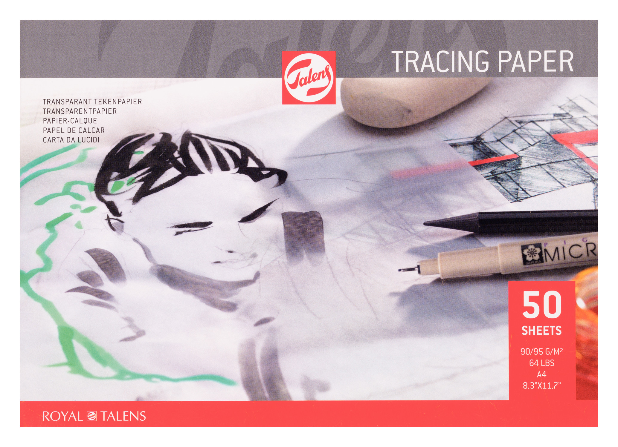Talens Tracing Paper A4, 90G, 50 Pages