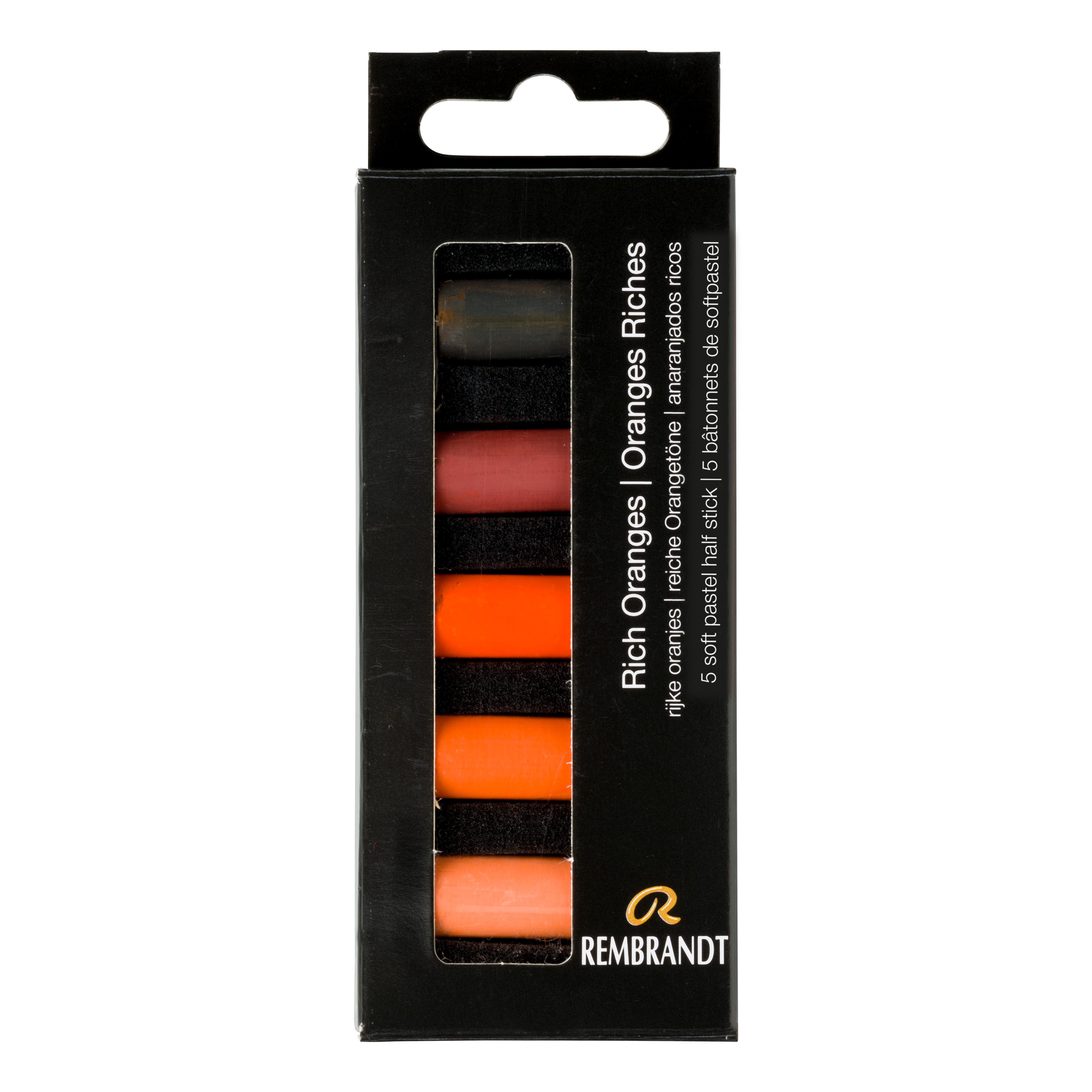 Rembrandt Soft Pastels Rich Oranges Set