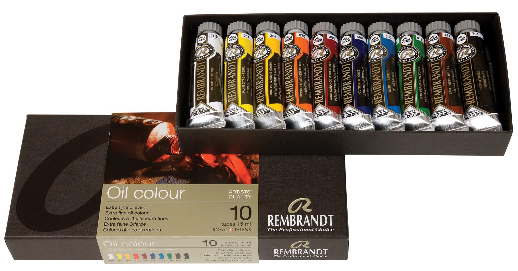 Rembrandt Oil colour Paint Basic Set, 10x15ml Tubes