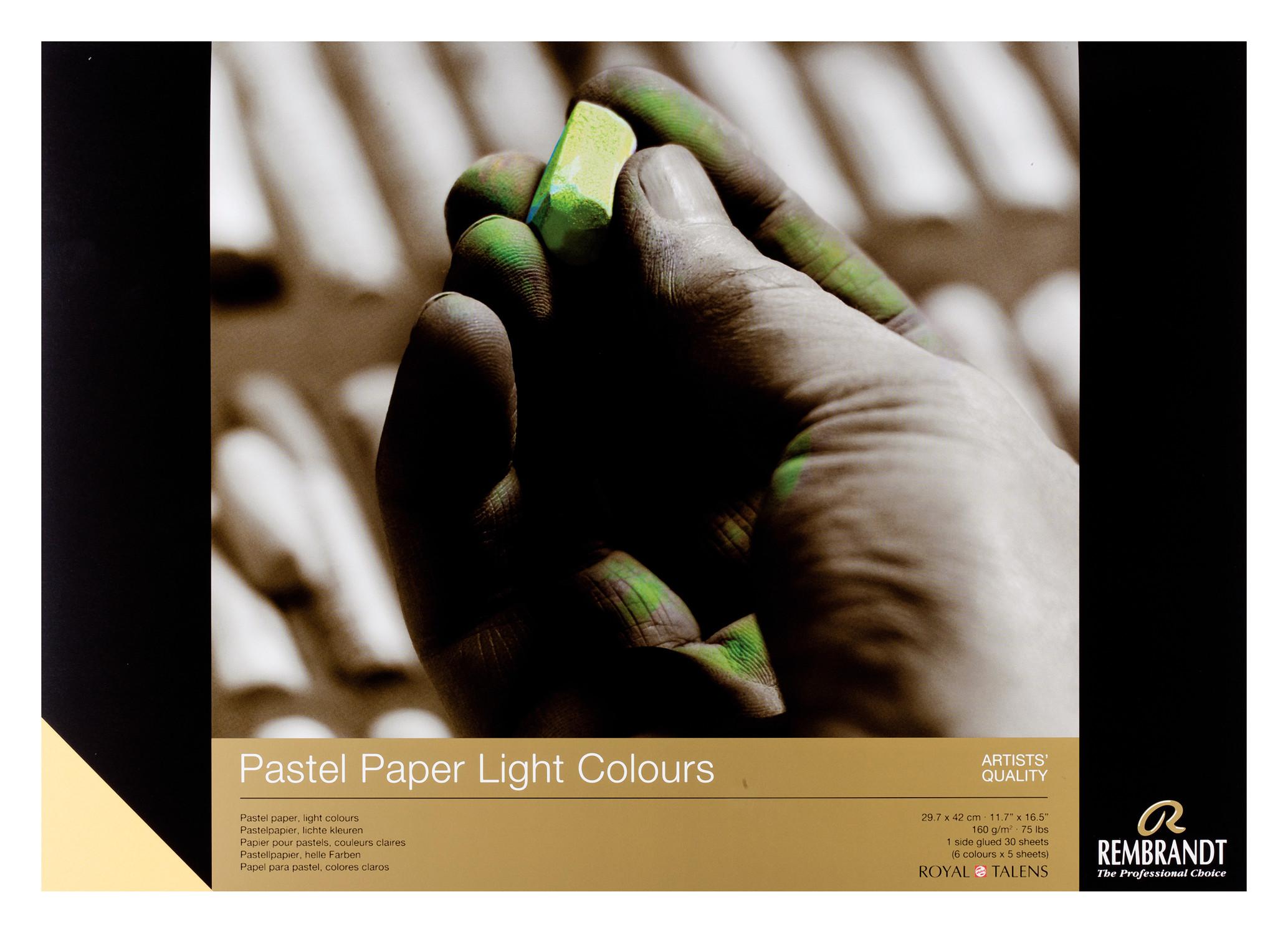 Rembrandt Pastel Paper Light 30 sheets 29X42cm 160g