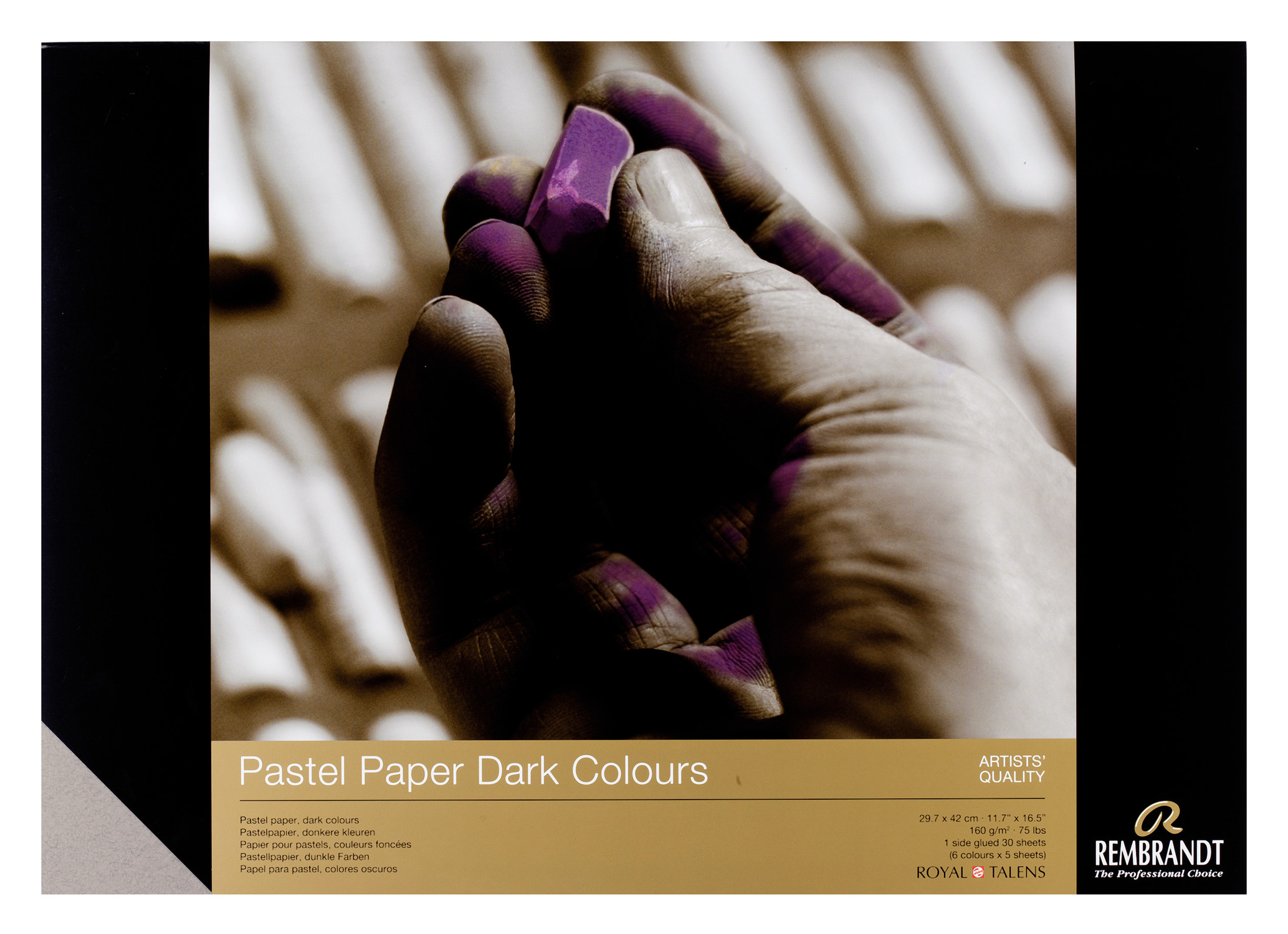 Rembrandt Pastel Paper Dark 30 sheets 29X42cm 160g