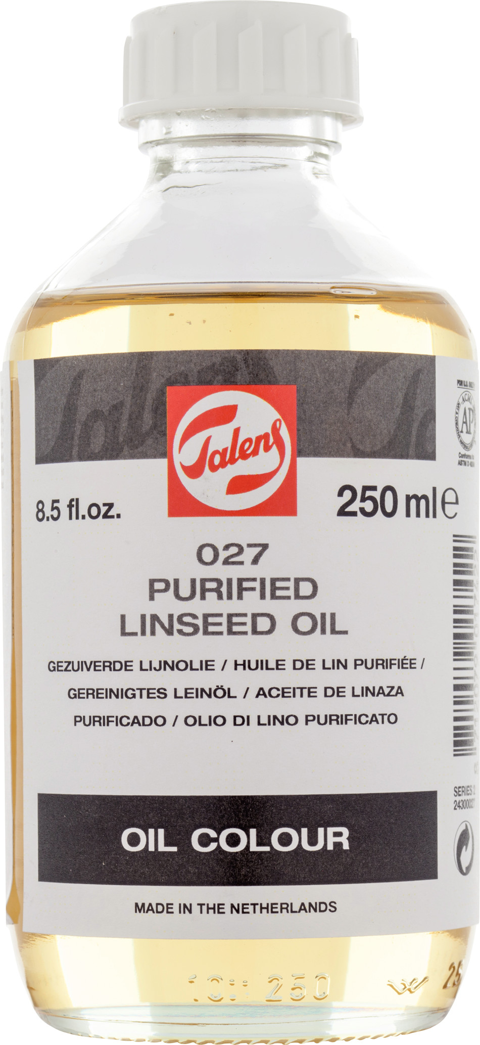 Purified Linseed Oil Bottle 250 ml