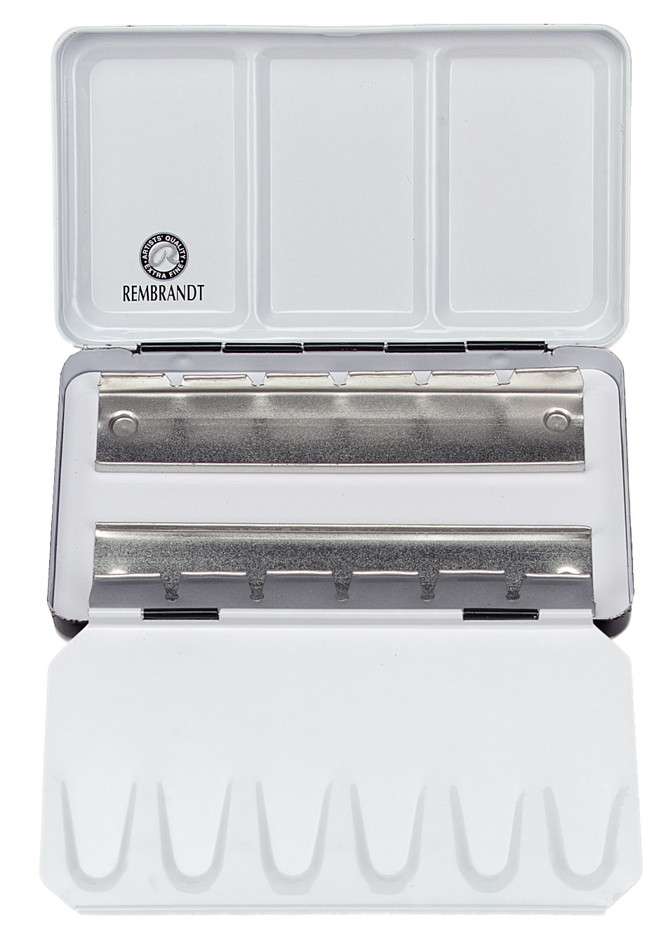 Rembrandt Professional Watercolour, Empty Metal Tin, Holds 12 Half Pans, Paints Sold Separately