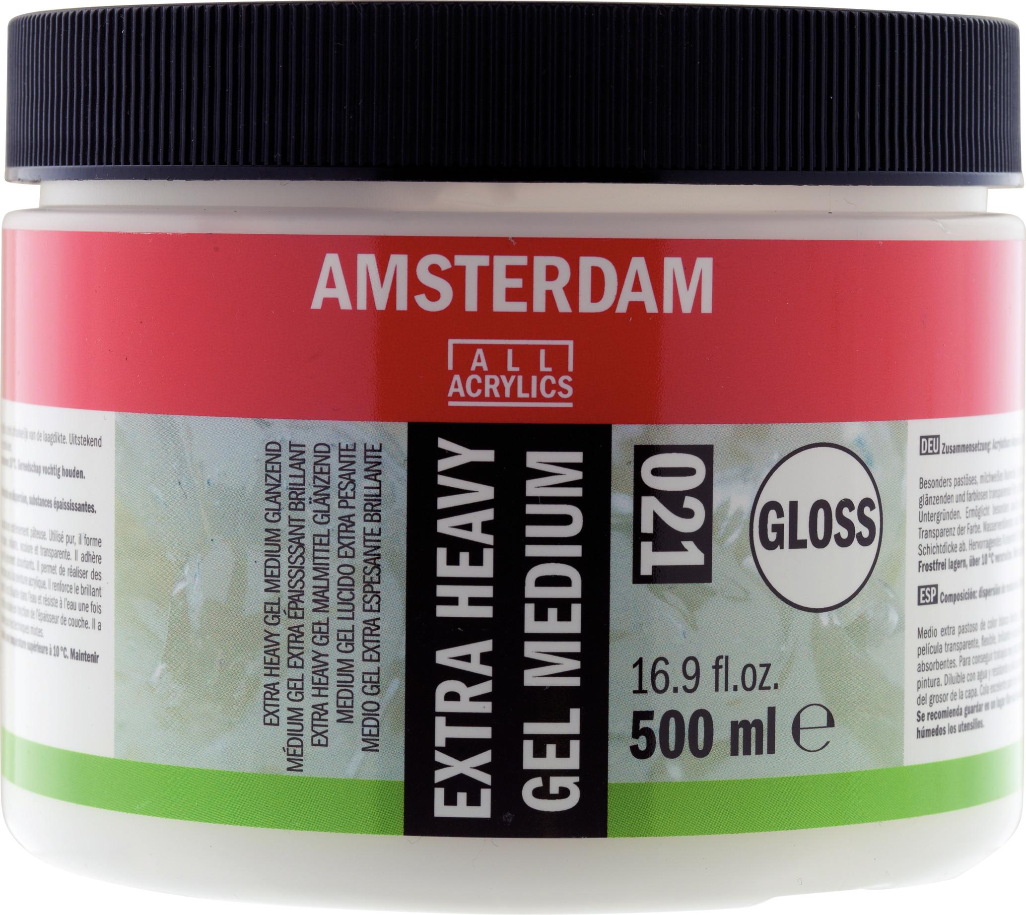 Amsterdam Extra Heavy Gel Medium Gloss Jar 500 ml