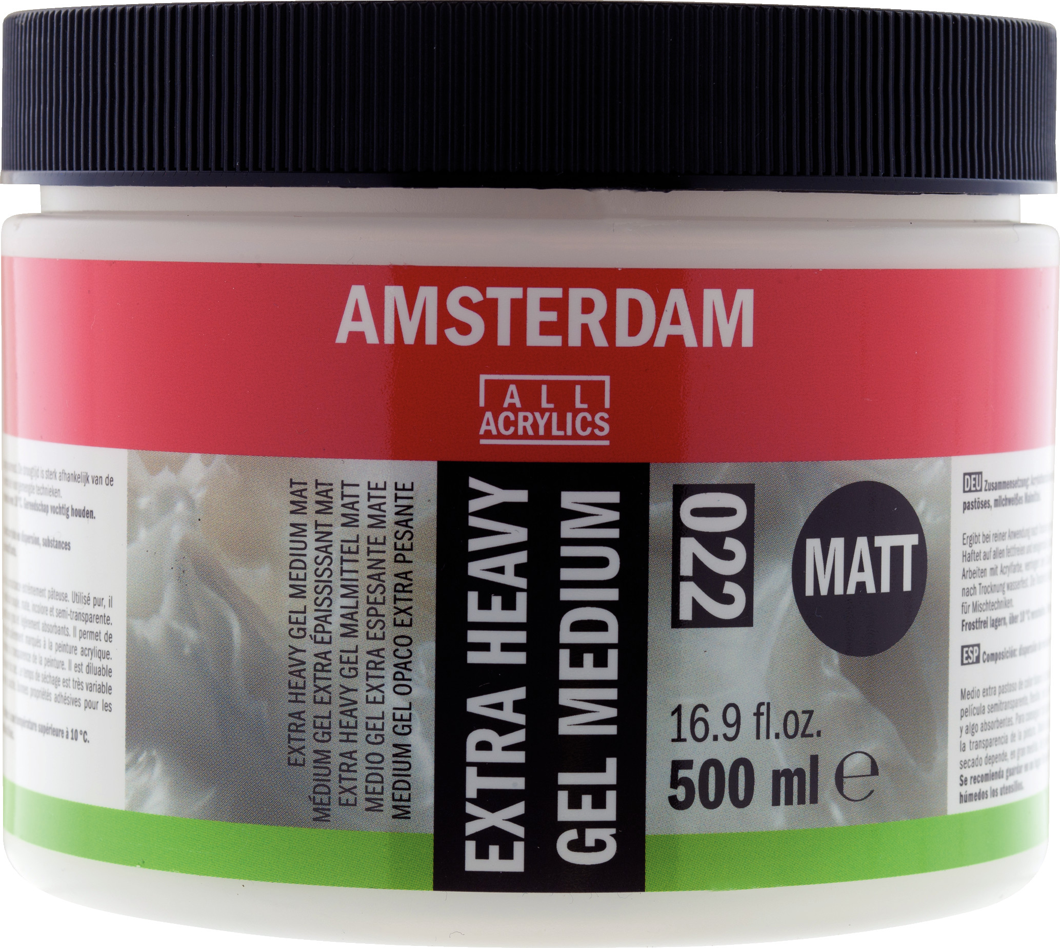 Amsterdam Extra Heavy Gel Medium Matt Jar 500 ml