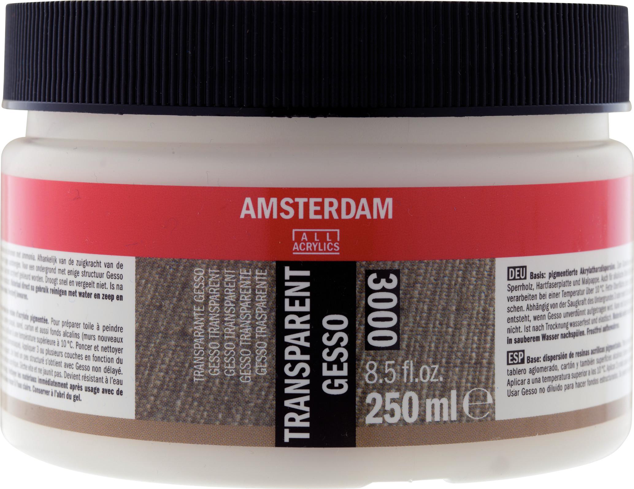 Amsterdam Transparent Gesso Jar 250 ml