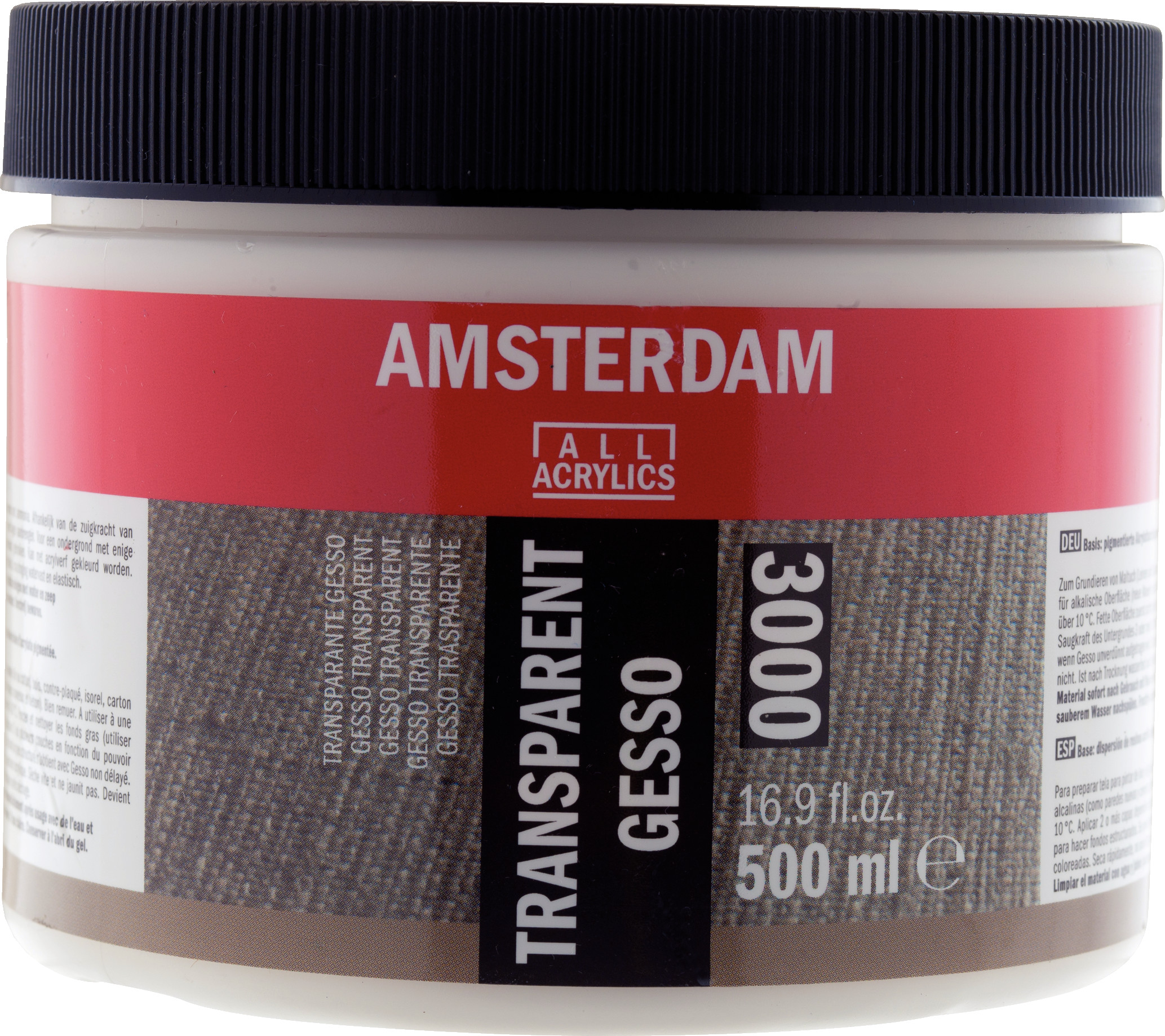 Amsterdam Transparent Gesso Jar 500 ml