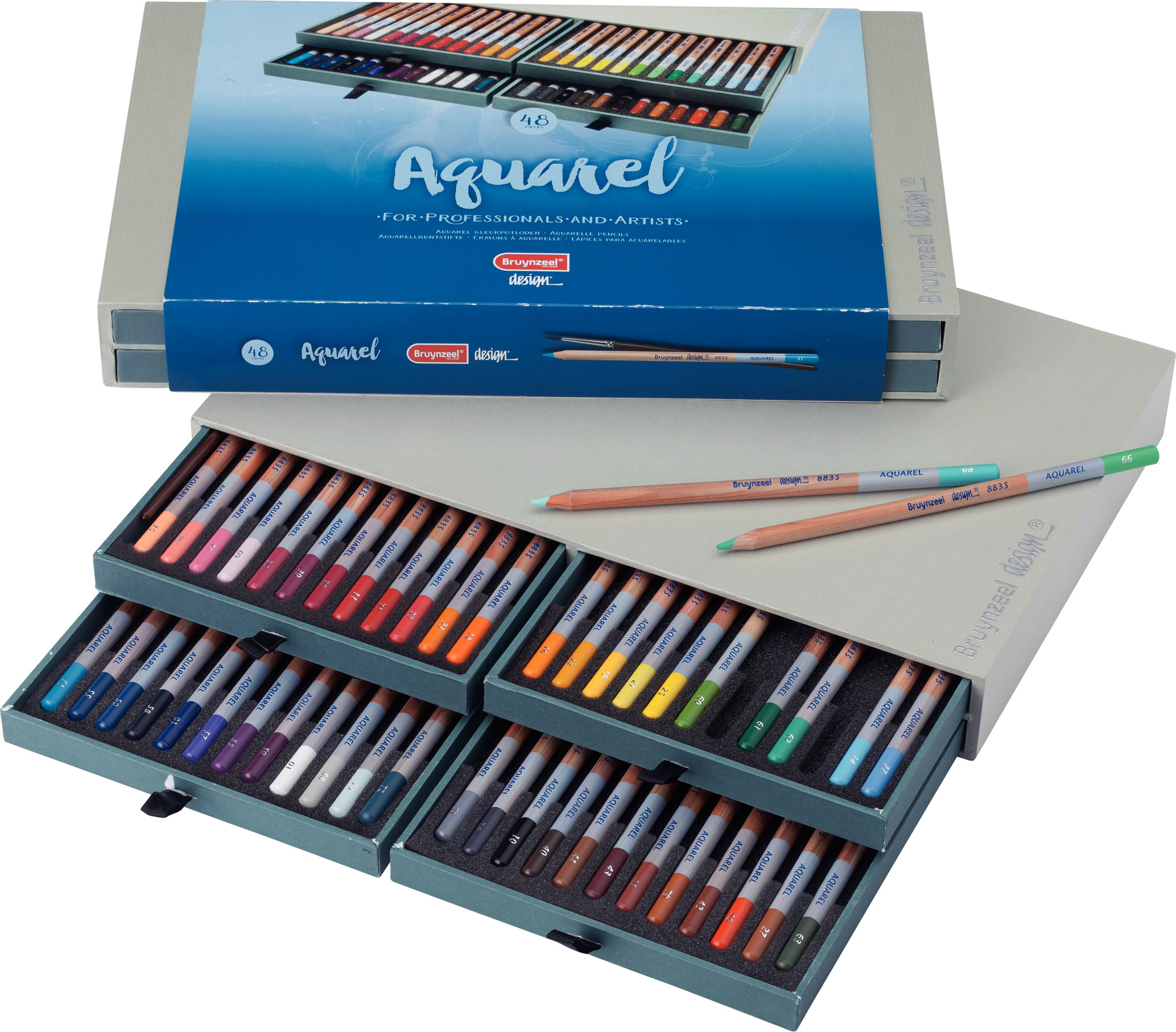 Bruynzeel Water Colour Pencils Box 48