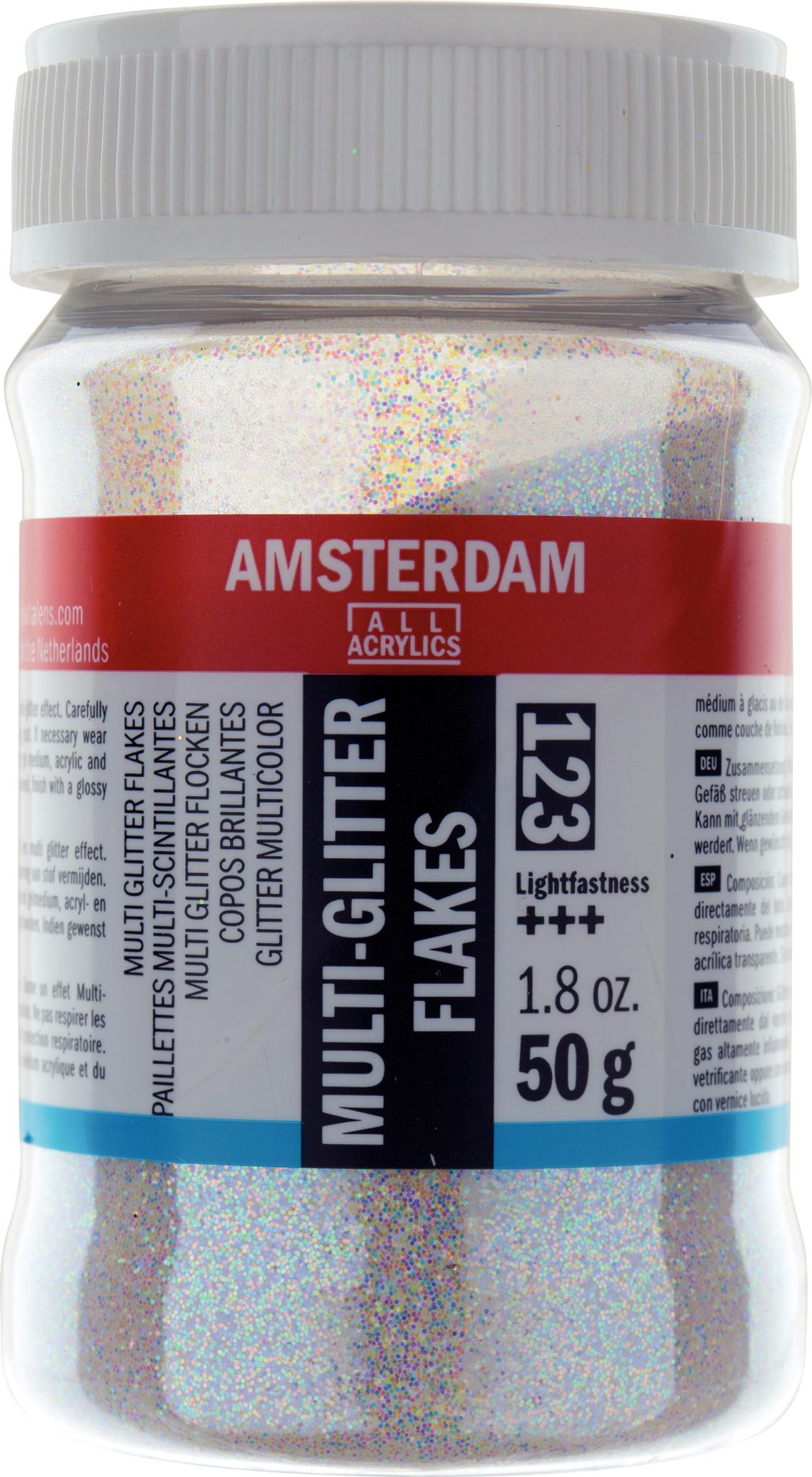 Amsterdam Multi-Colored Glitter Flakes Jar 50 g