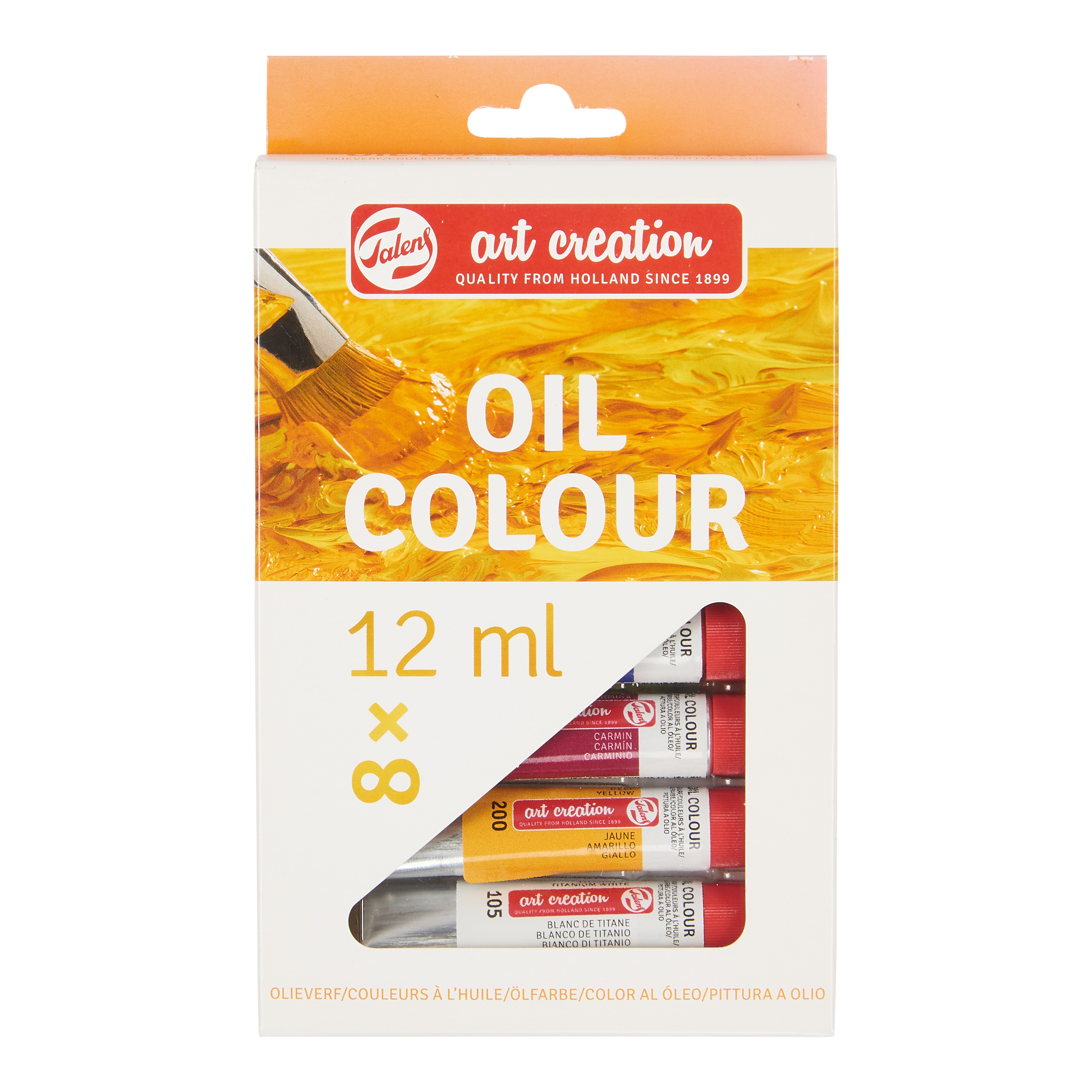 Talens Art Creation Oil Colour Set 8 X 12 ml
