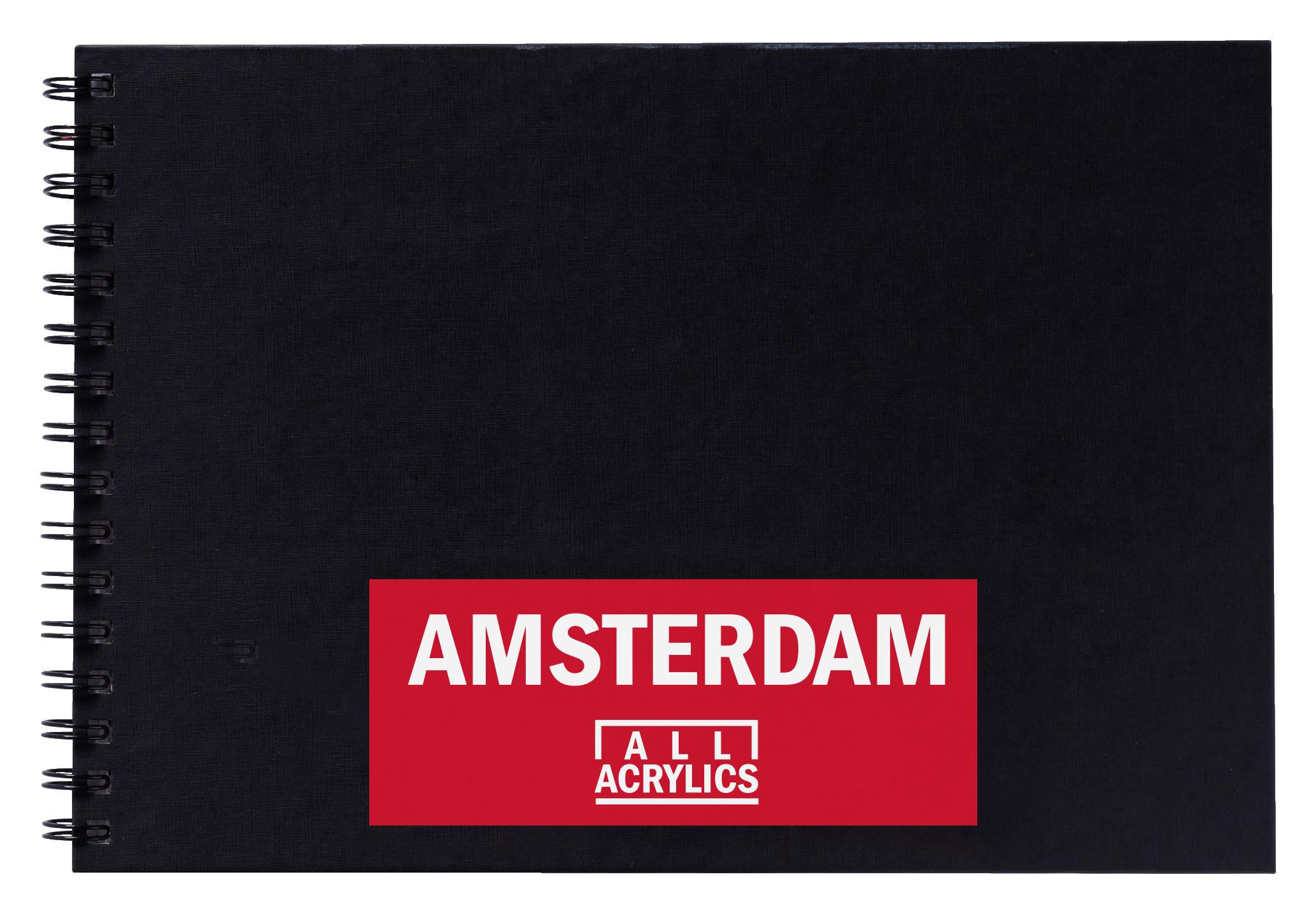 Amsterdam Black Book A4 - 29.7 x 21 cm - 250 g/m? - 30 Sheets
