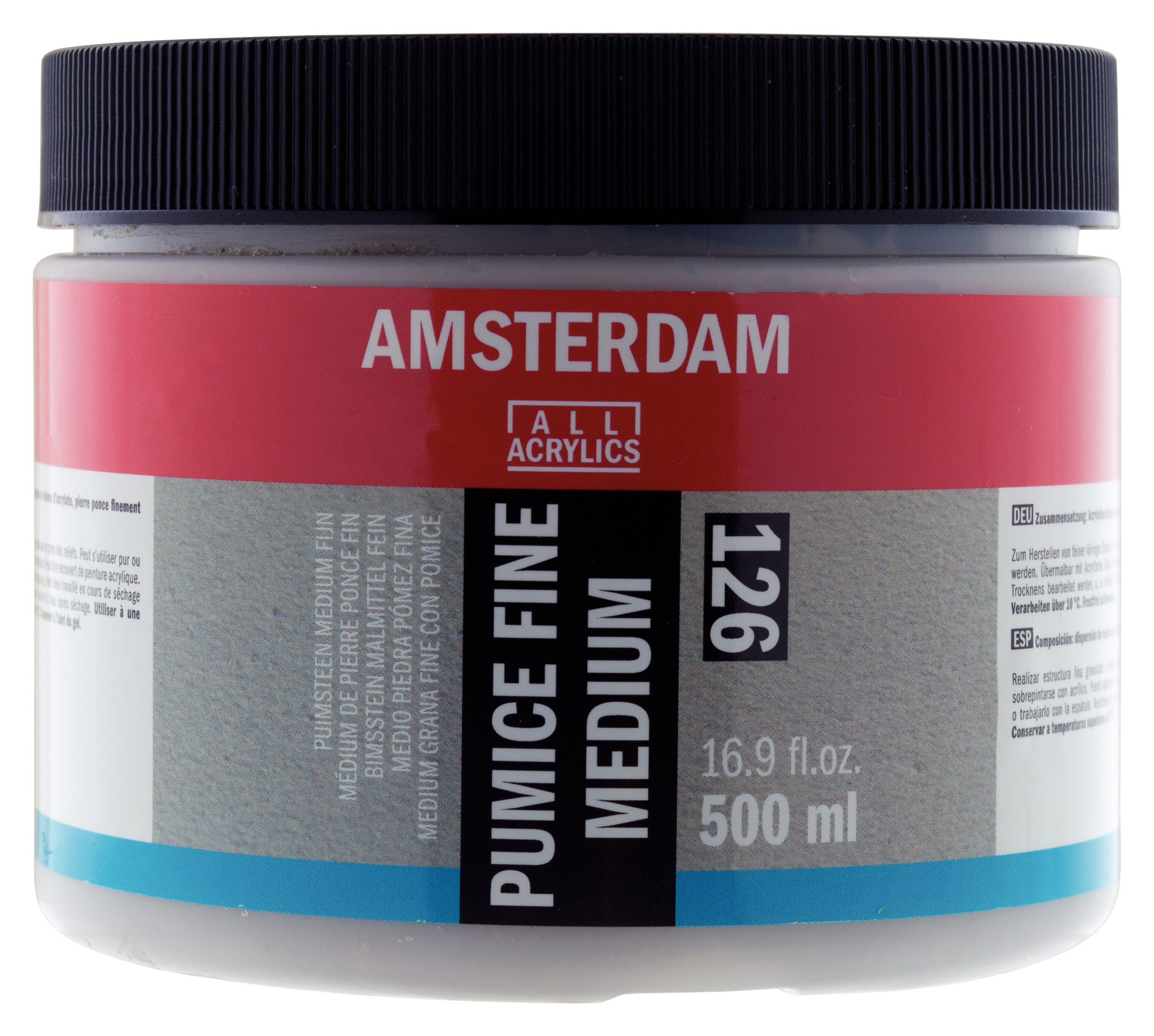 Amsterdam Pumice Fine Medium Jar 500 ml
