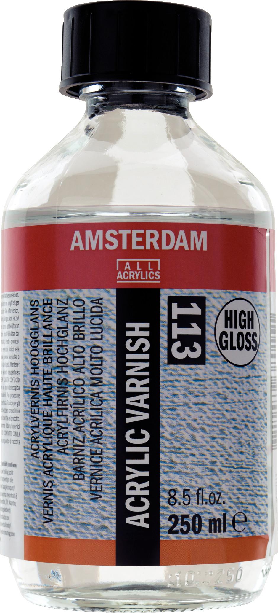 Amsterdam Acrylic Varnish High Gloss Bottle 250 ml