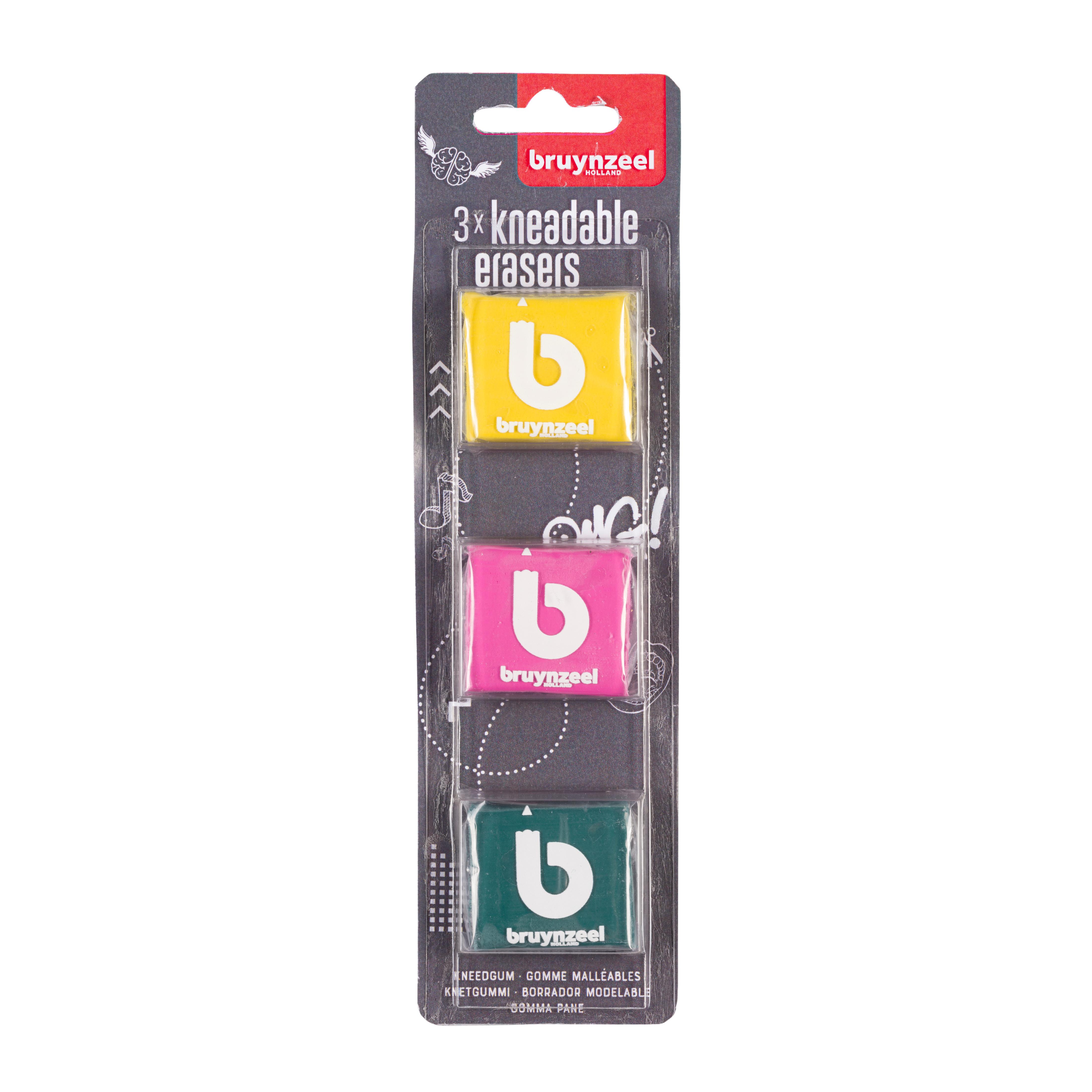 Bruynzeel Kneadable Eraser Blister 3
