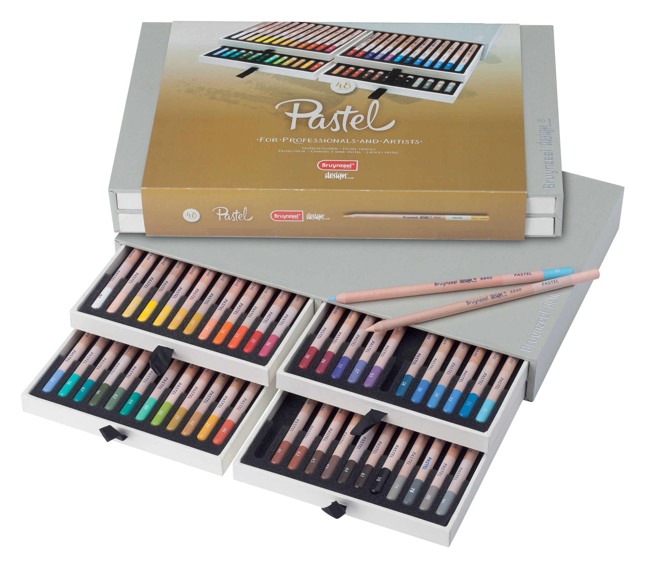 Bruynzeel Pastel Pencils Box 48