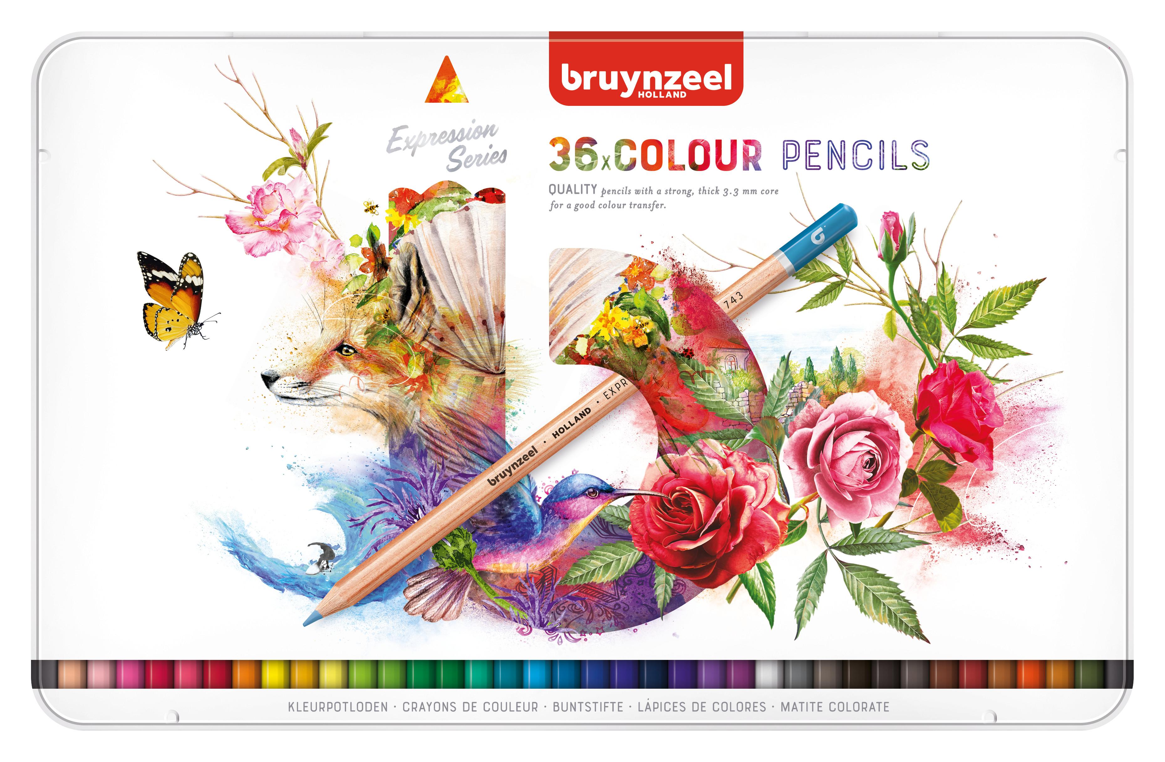 Bruynzeel Expression Colour Pencils Tin 36