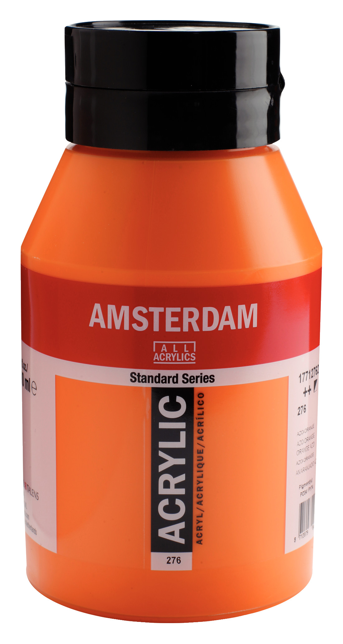 Amsterdam Standard Series Acrylic Jar 1000 ml Azo orange 276