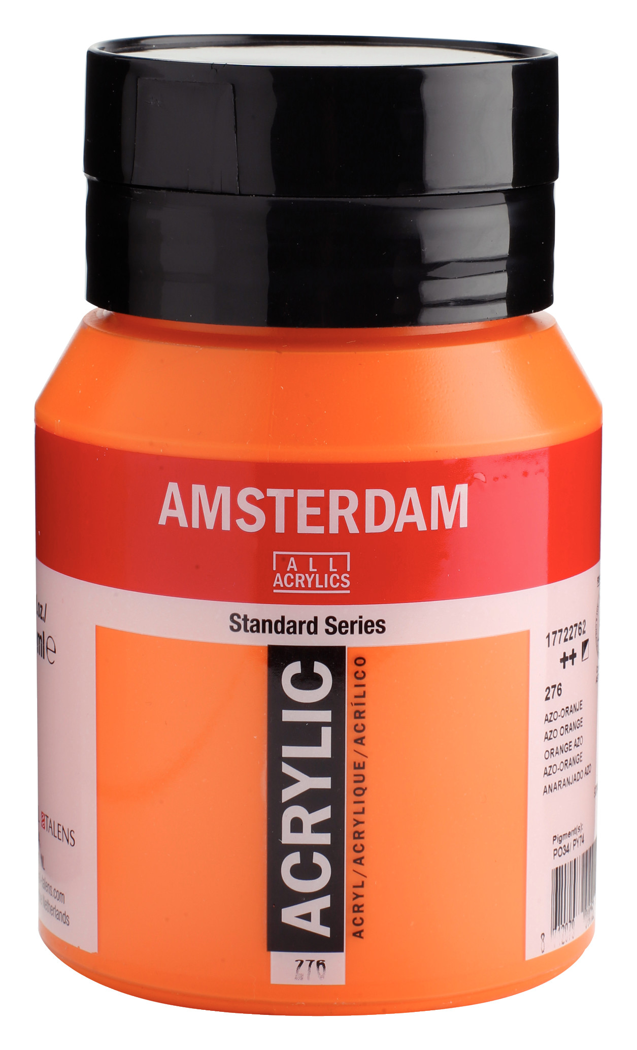 Amsterdam Standard Series Acrylic Jar 500 ml Azo orange 276