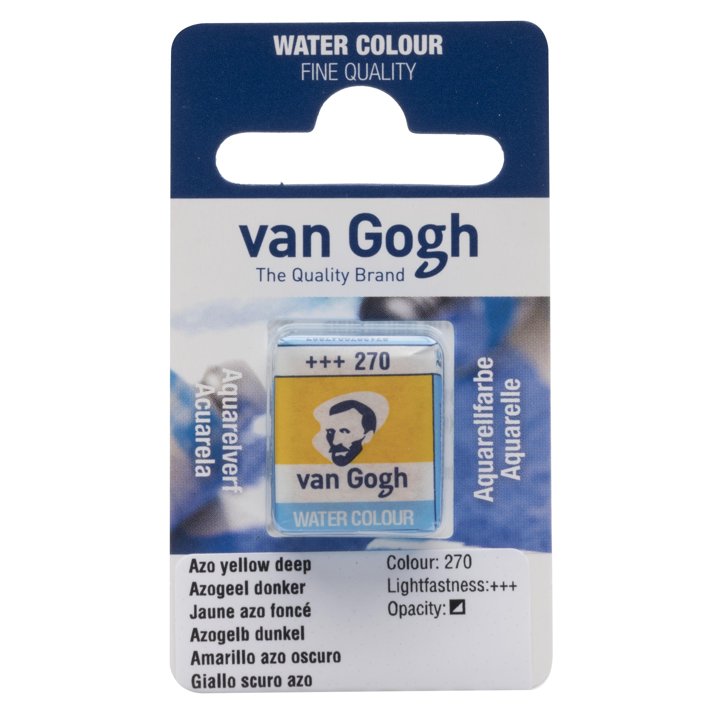 Van Gogh Watercolour Pan Azo Yellow Deep 270