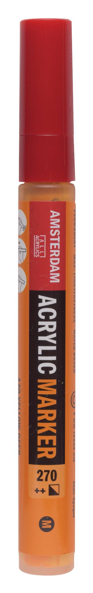 Amsterdam Acrylic Marker 4 mm Azo Yellow Deep 270