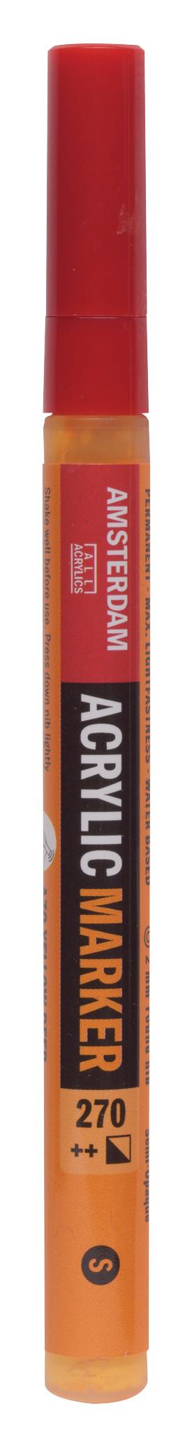 Amsterdam Acrylic Marker 2 mm Azo Yellow Deep 270
