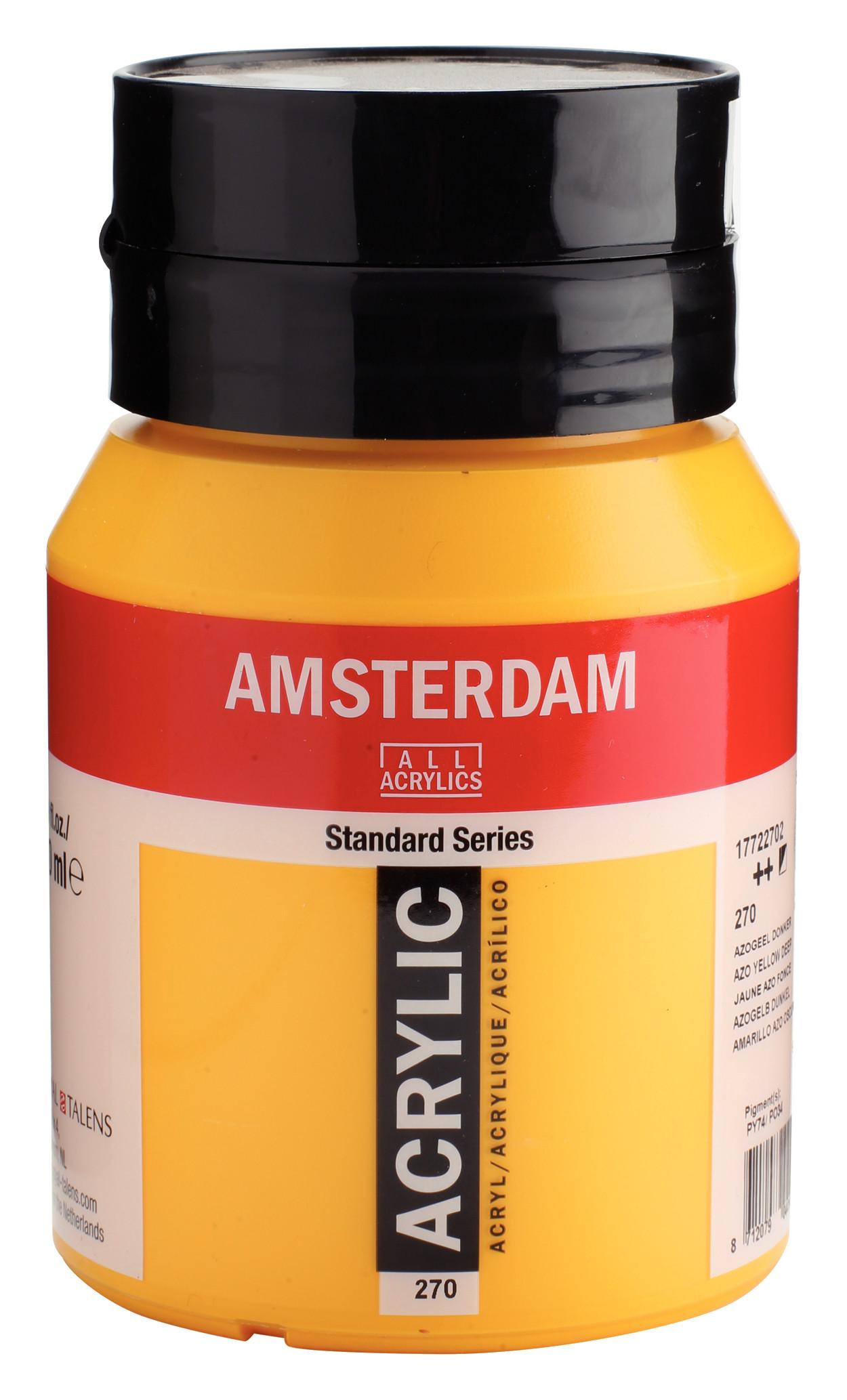 Amsterdam Standard Series Acrylic Jar 500 ml Azo yellow deep 270
