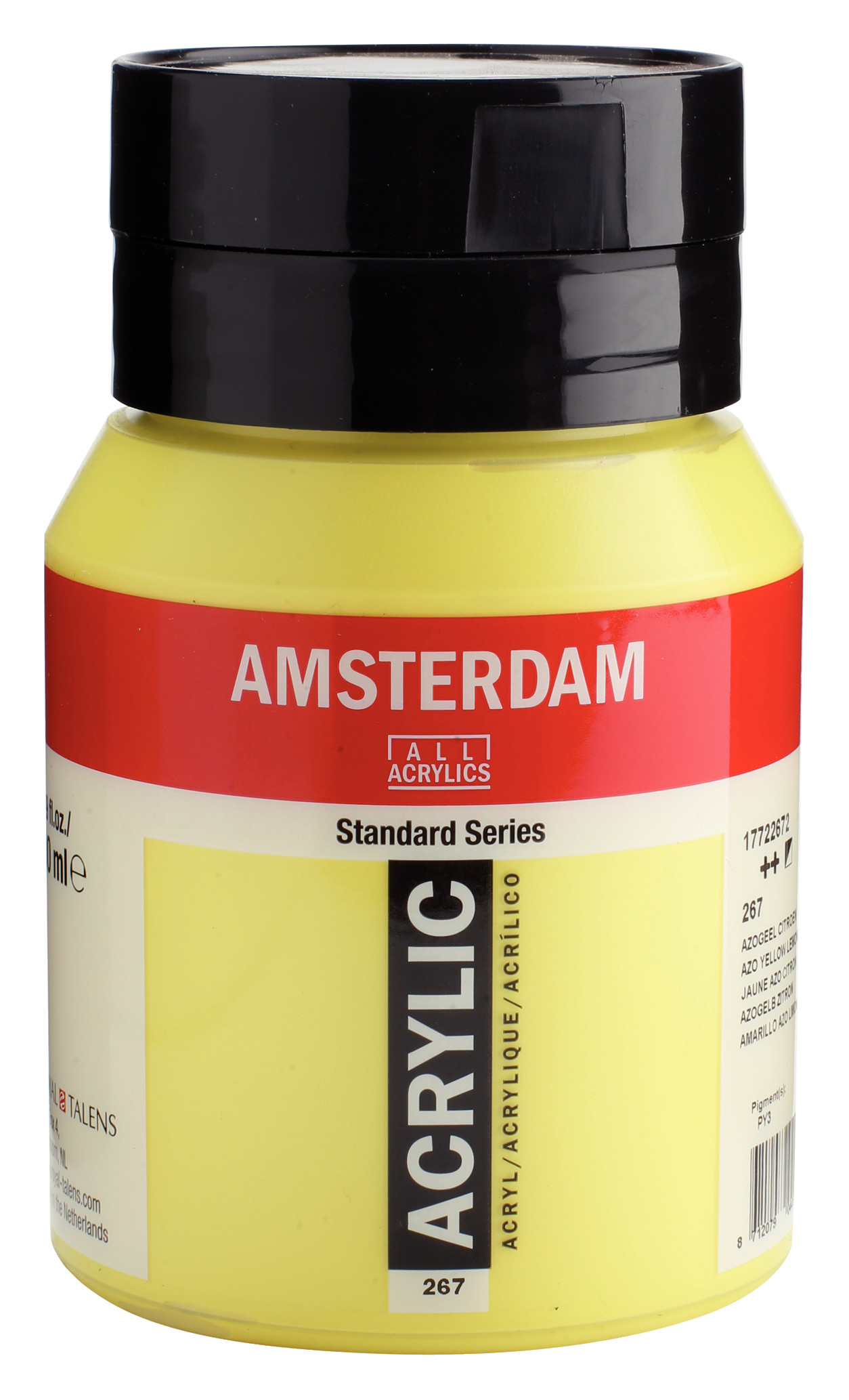 Amsterdam Standard Series Acrylic Jar 500 ml Azo yellow lemon 267