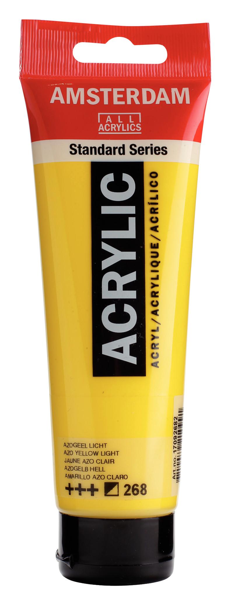 Amsterdam Standard Series Acrylic Tube 120 ml Azo yellow light 268