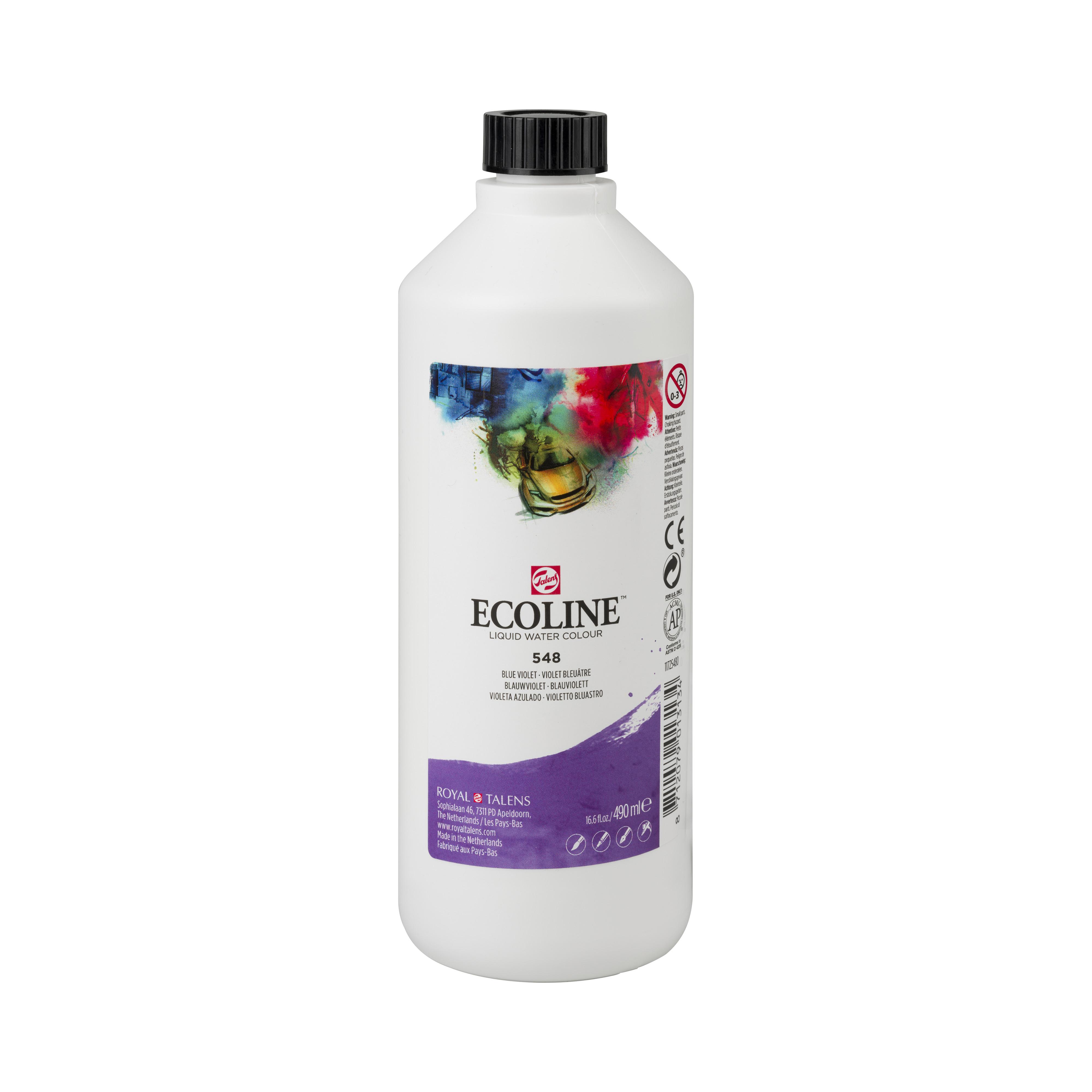 Ecoline Liquid Watercolour Plastic Bottle 490 ml Blue Violet 548