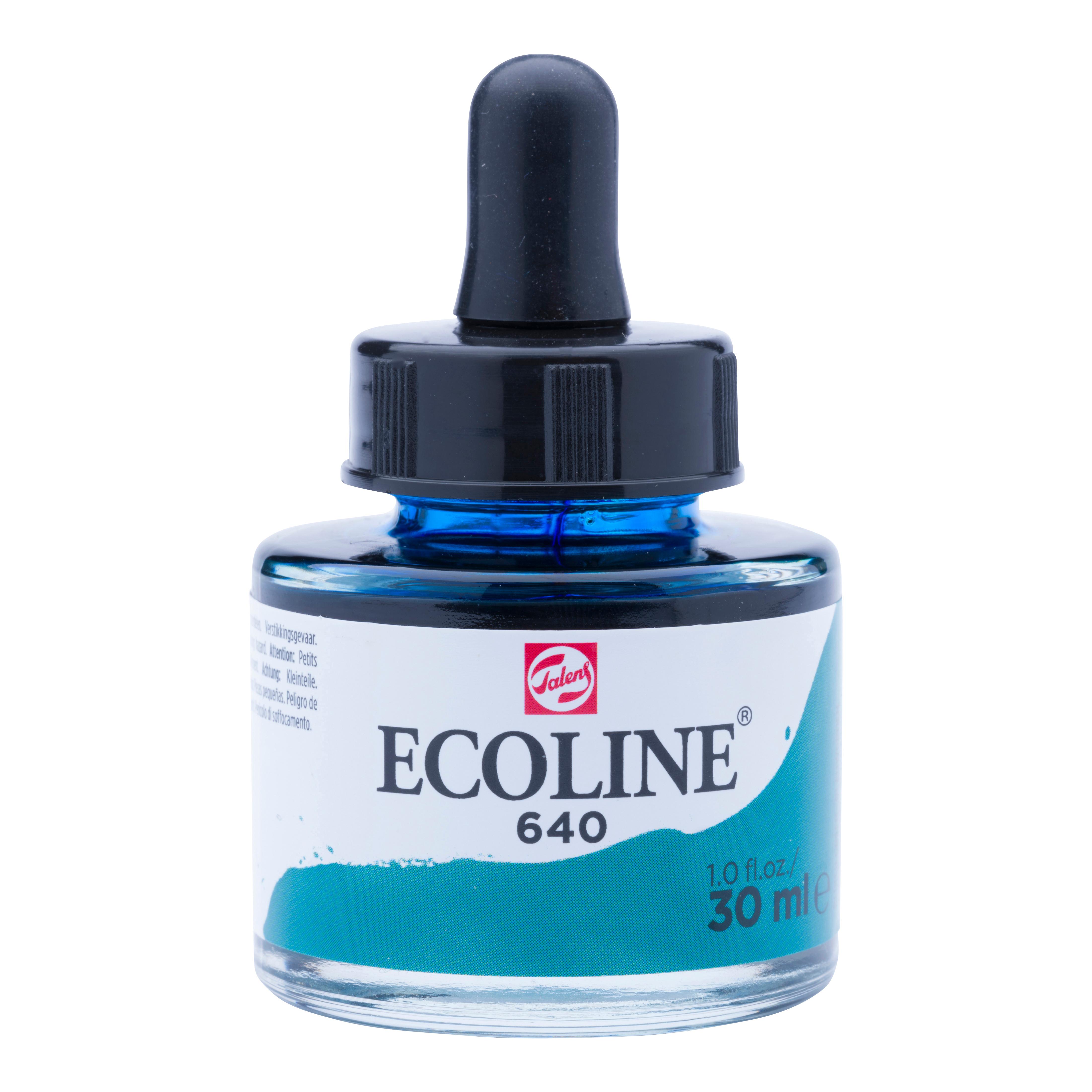 Ecoline Liquid Watercolour Bottle 30 ml Bluish Green  640