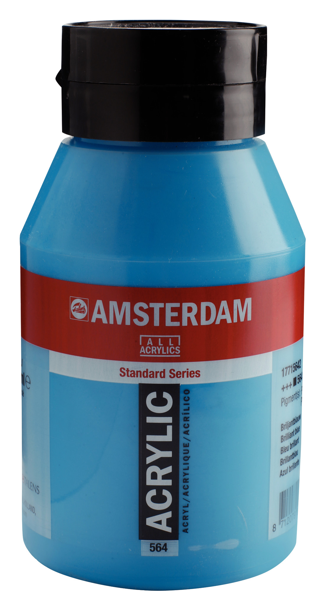 Amsterdam Standard Series Acrylic Jar 1000 ml Brilliant blue 564