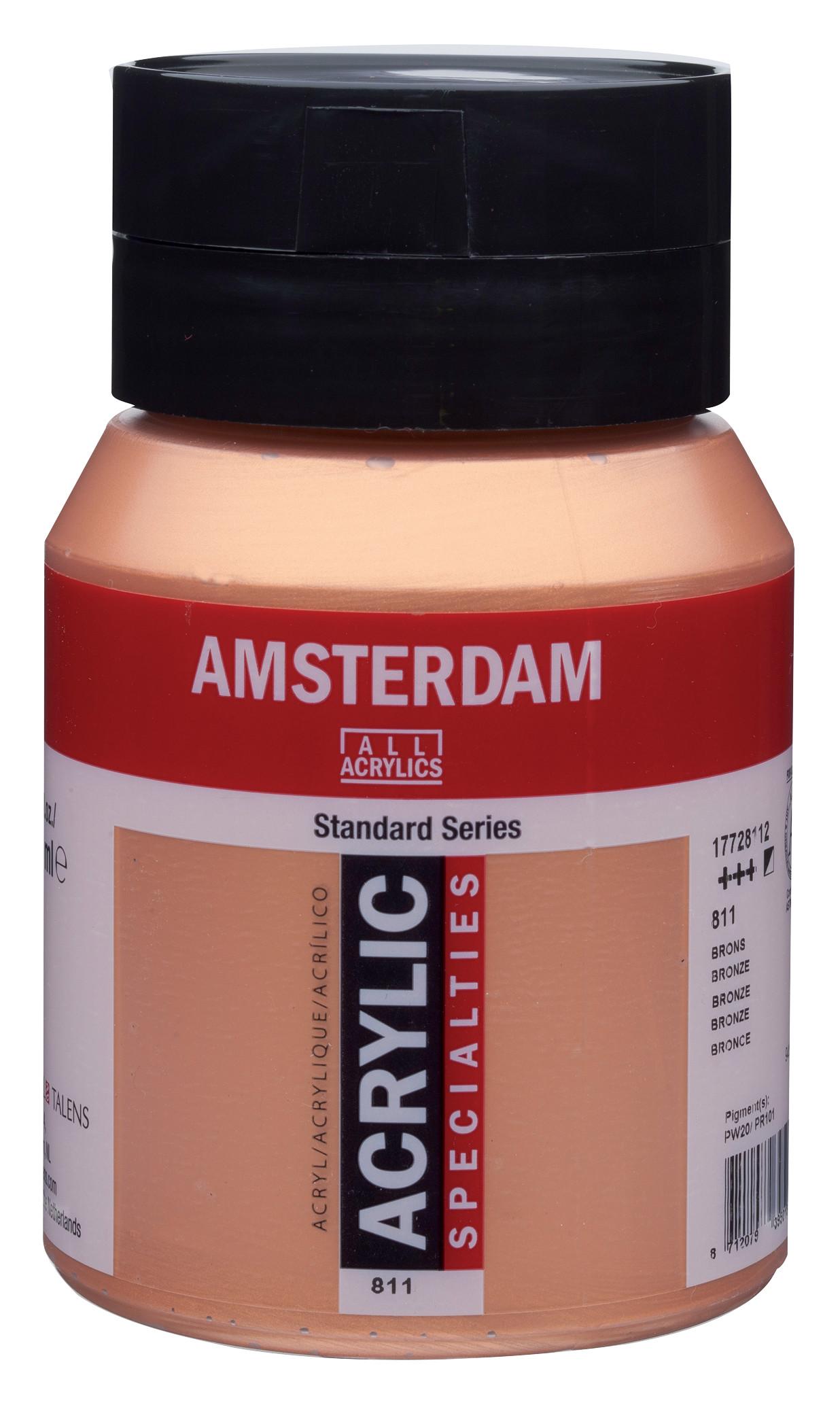 Amsterdam Standard Series Acrylic Jar 500 ml Bronze 811