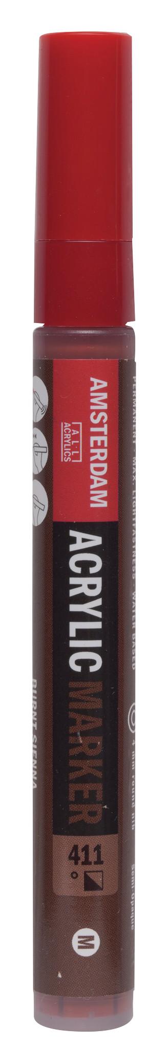 Amsterdam Acrylic Marker 4 mm Burnt Sienna 411