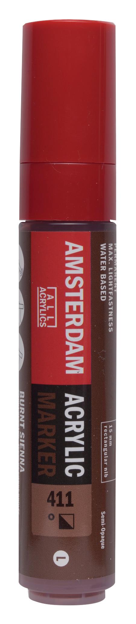 Amsterdam Acrylic Marker 15 mm Burnt Sienna 411
