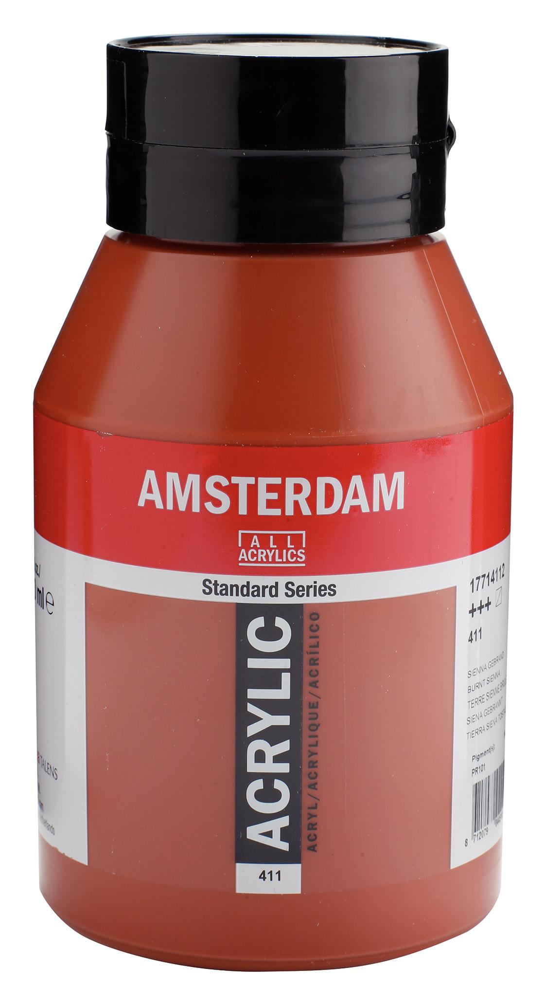 Amsterdam Standard Series Acrylic Jar 1000 ml Burnt sienna 411