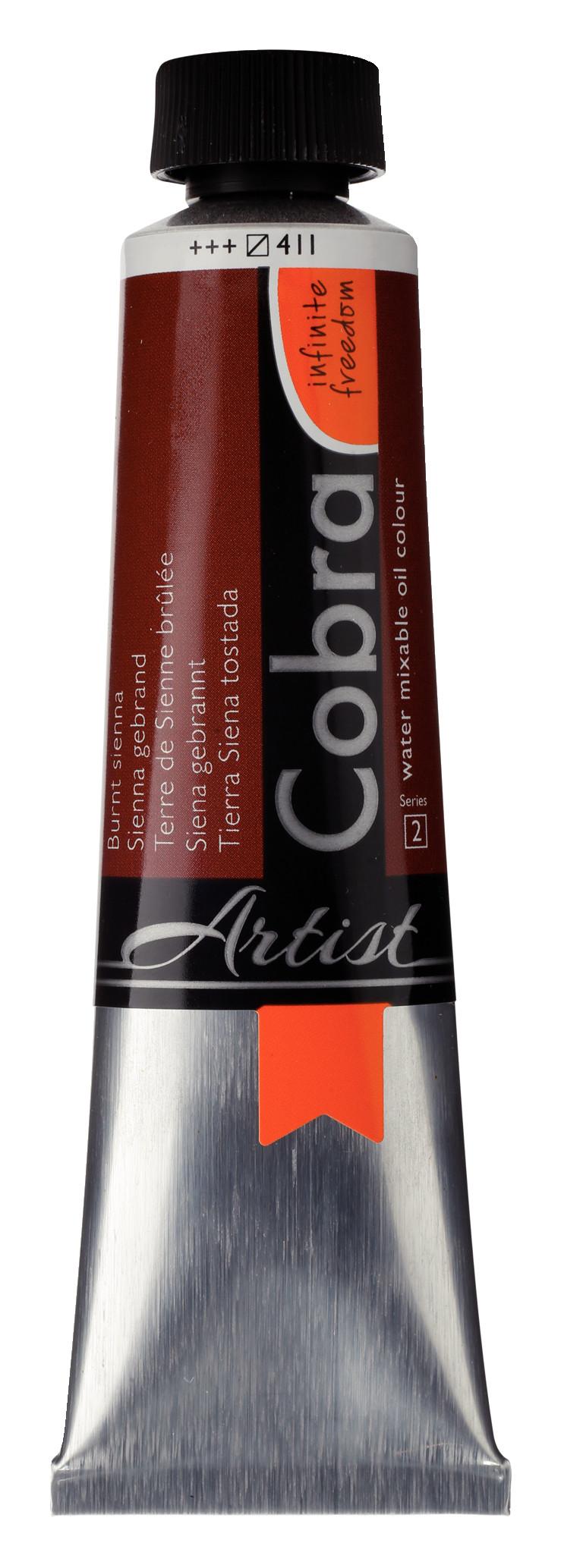 Cobra Artist Water Mixable Oil Colour Tube 40 ml Burnt sienna 411