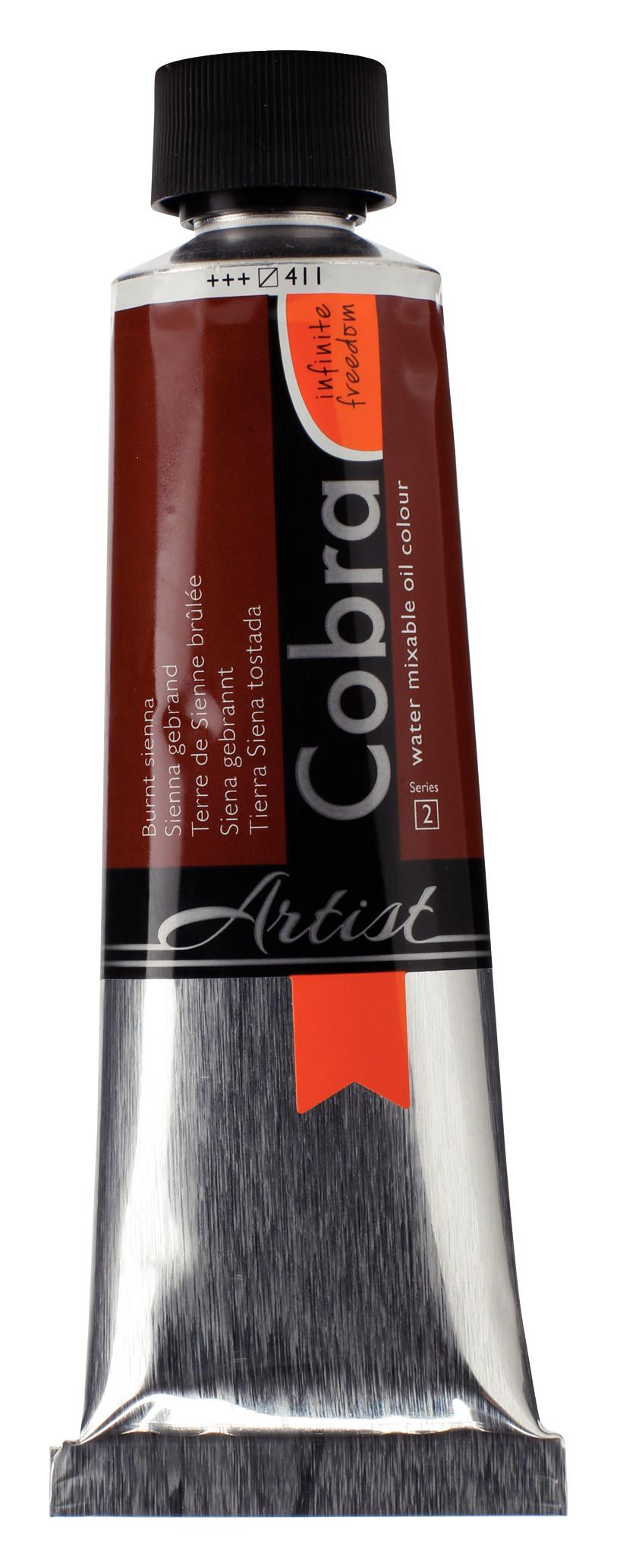 Cobra Artist Water Mixable Oil Colour Tube 150 ml Burnt sienna 411