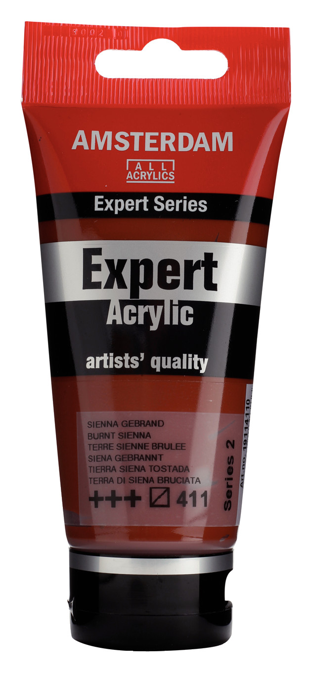 Amsterdam Expert Series Acrylic Tube 75 ml Burnt Sienna 411
