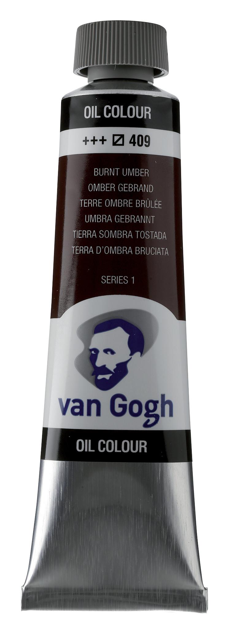 Van Gogh Oil Colour Tube 40 ml Burnt Umber 409