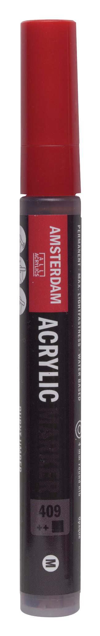 Amsterdam Acrylic Marker 4 mm Burnt Umber 409