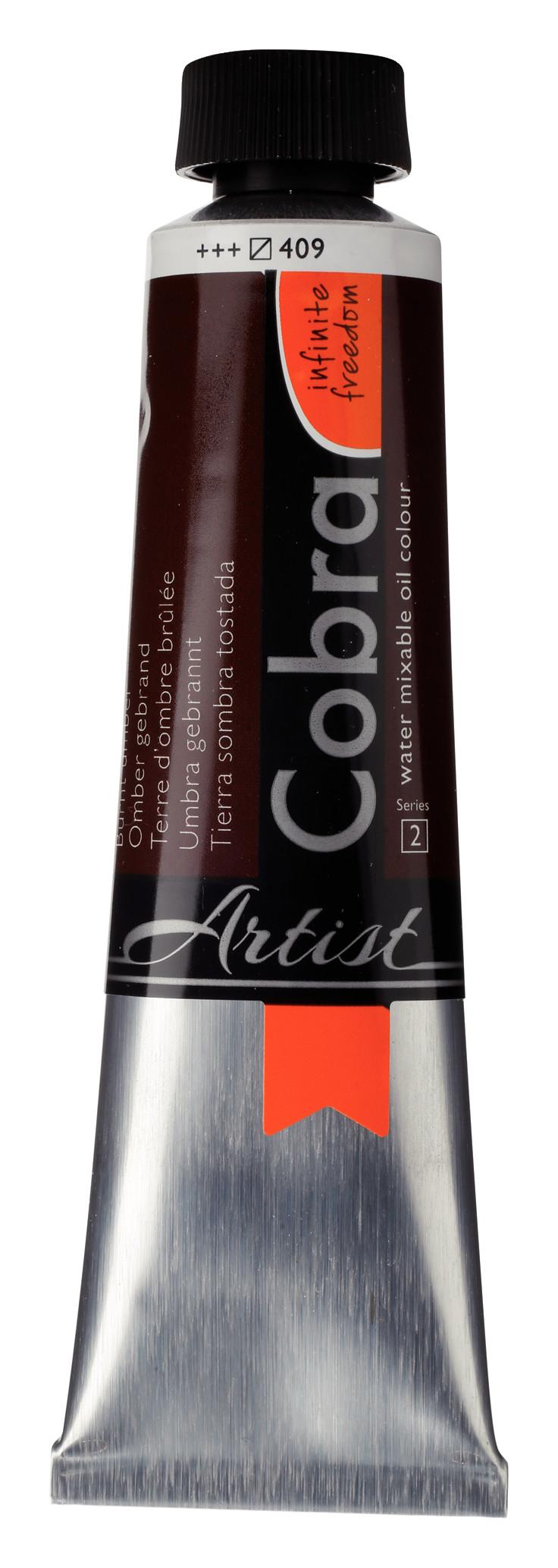 Cobra Artist Water Mixable Oil Colour Tube 40 ml Burnt umber 409