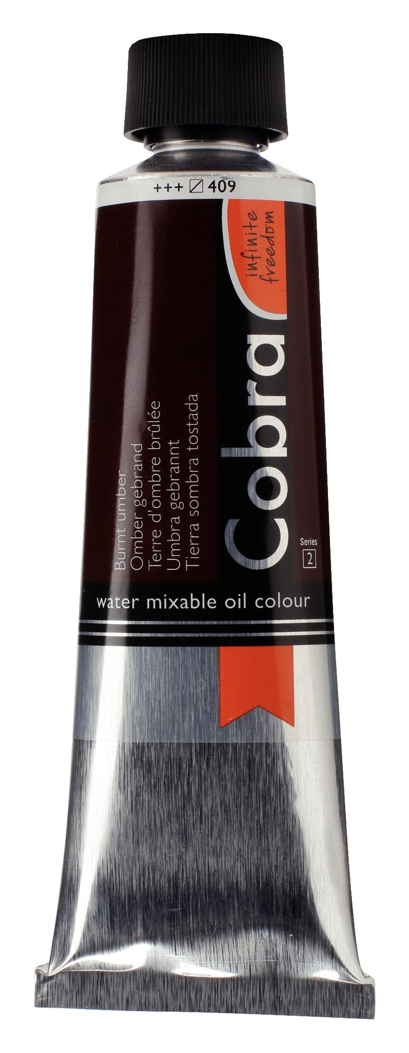 Cobra Artist Water Mixable Oil Colour Tube 150 ml Burnt umber 409