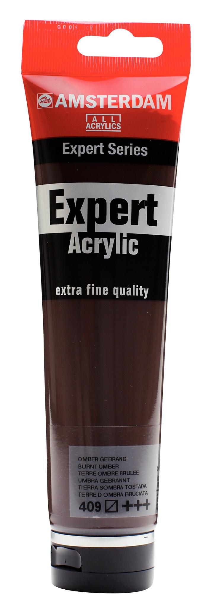 Amsterdam Expert Series Acrylic Tube 150 ml Burnt Umber 409