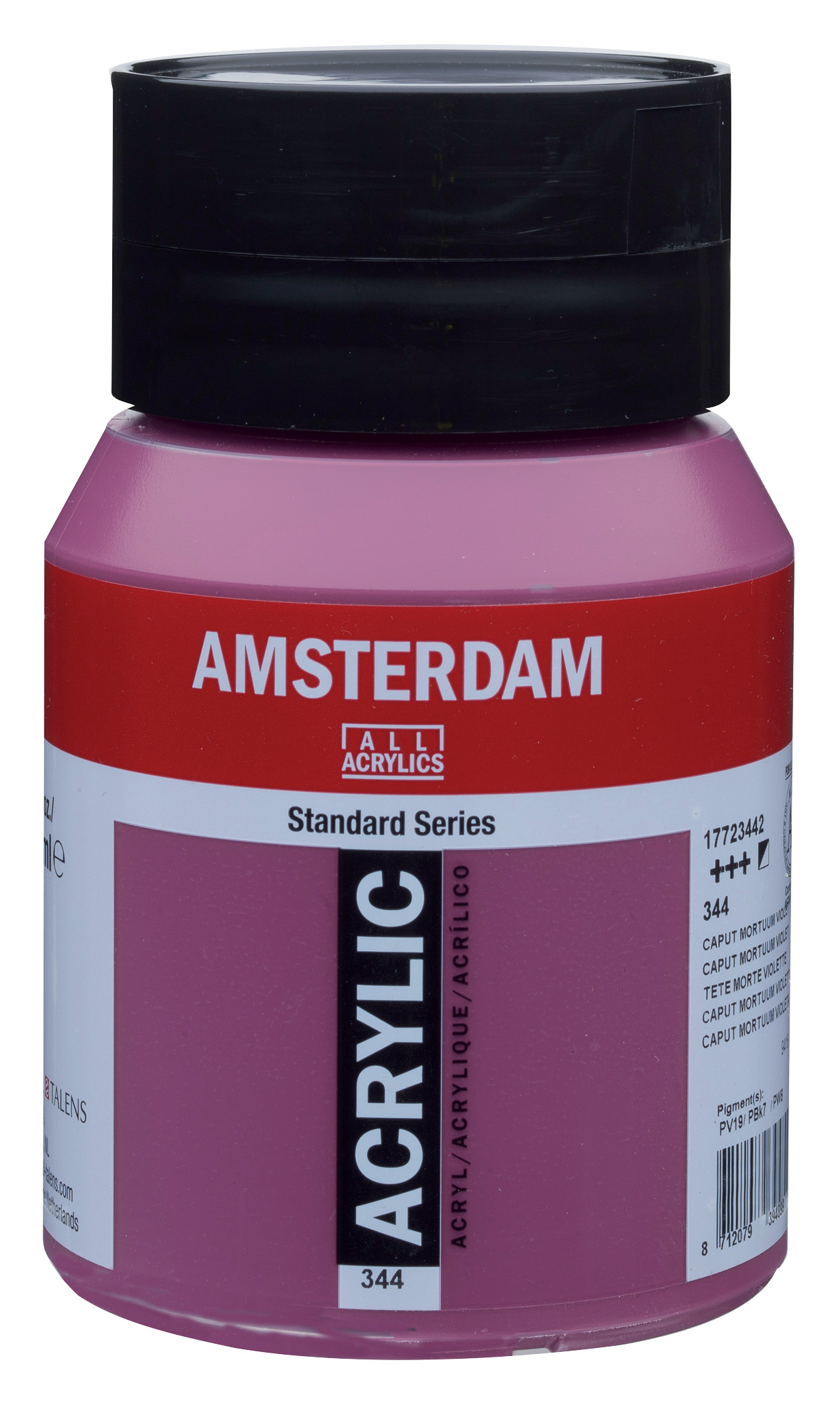 Amsterdam Standard Series Acrylic Jar 500 ml Caput mortuum violet 344
