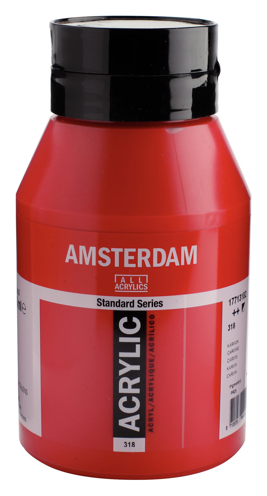 Amsterdam Standard Series Acrylic Jar 1000 ml Carmine 318