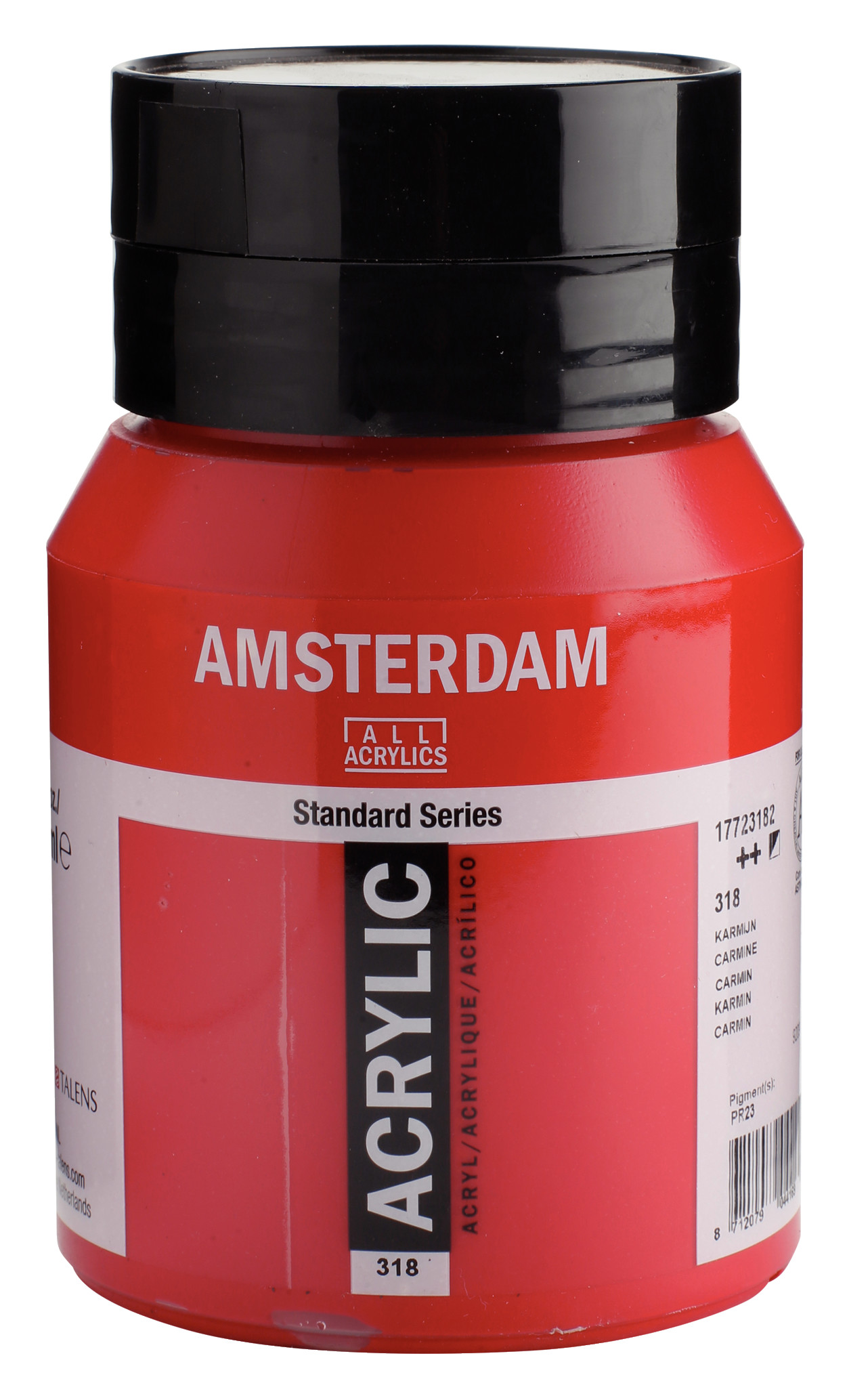 Amsterdam Standard Series Acrylic Jar 500 ml Carmine 318