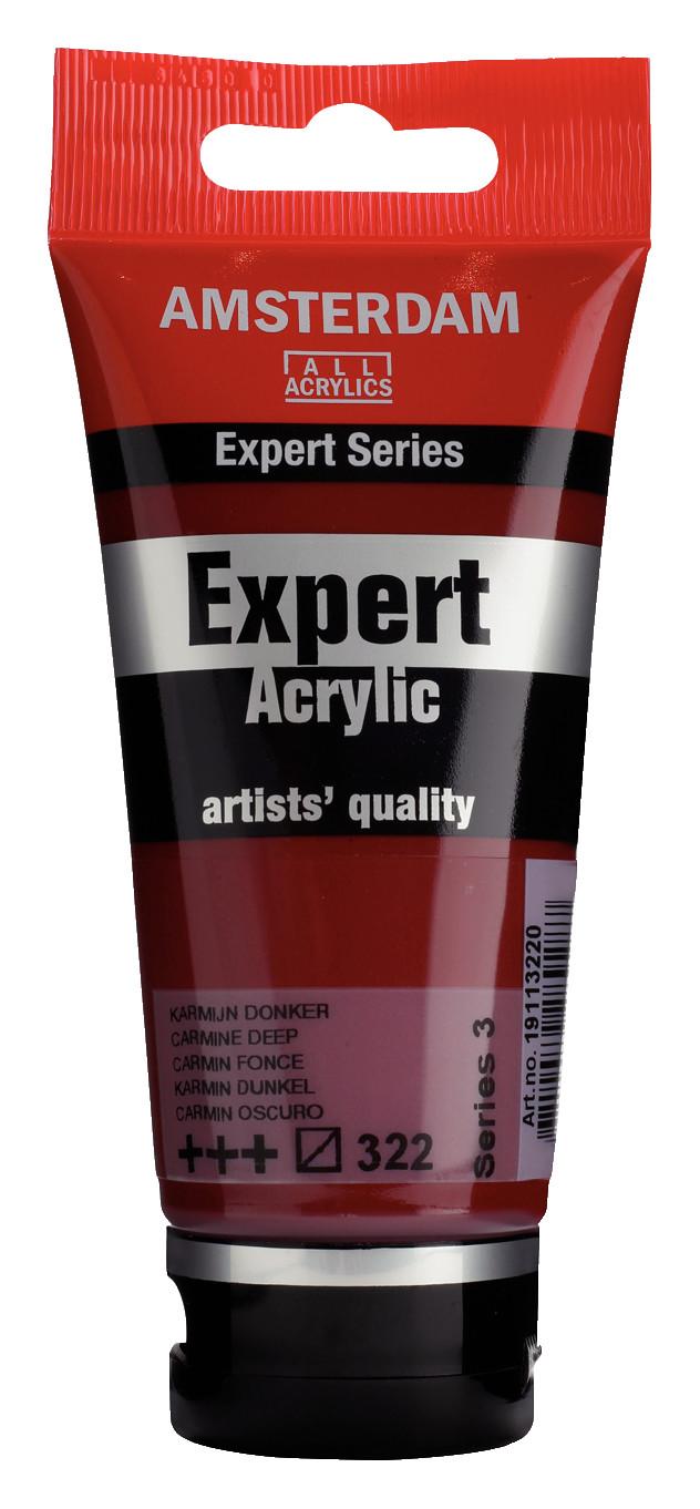 Amsterdam Expert Series Acrylic Tube 75 ml Carmine Deep 322