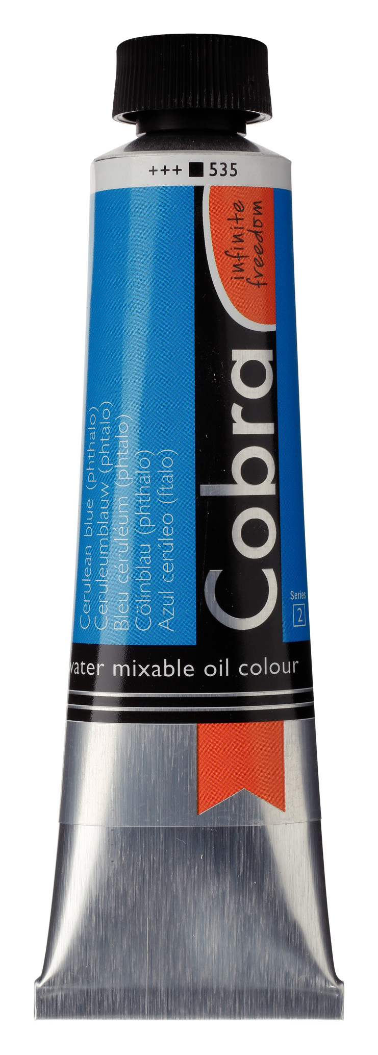 Cobra Artist Water Mixable Oil Colour Tube 40 ml Cerulean blue (phthalo) 535